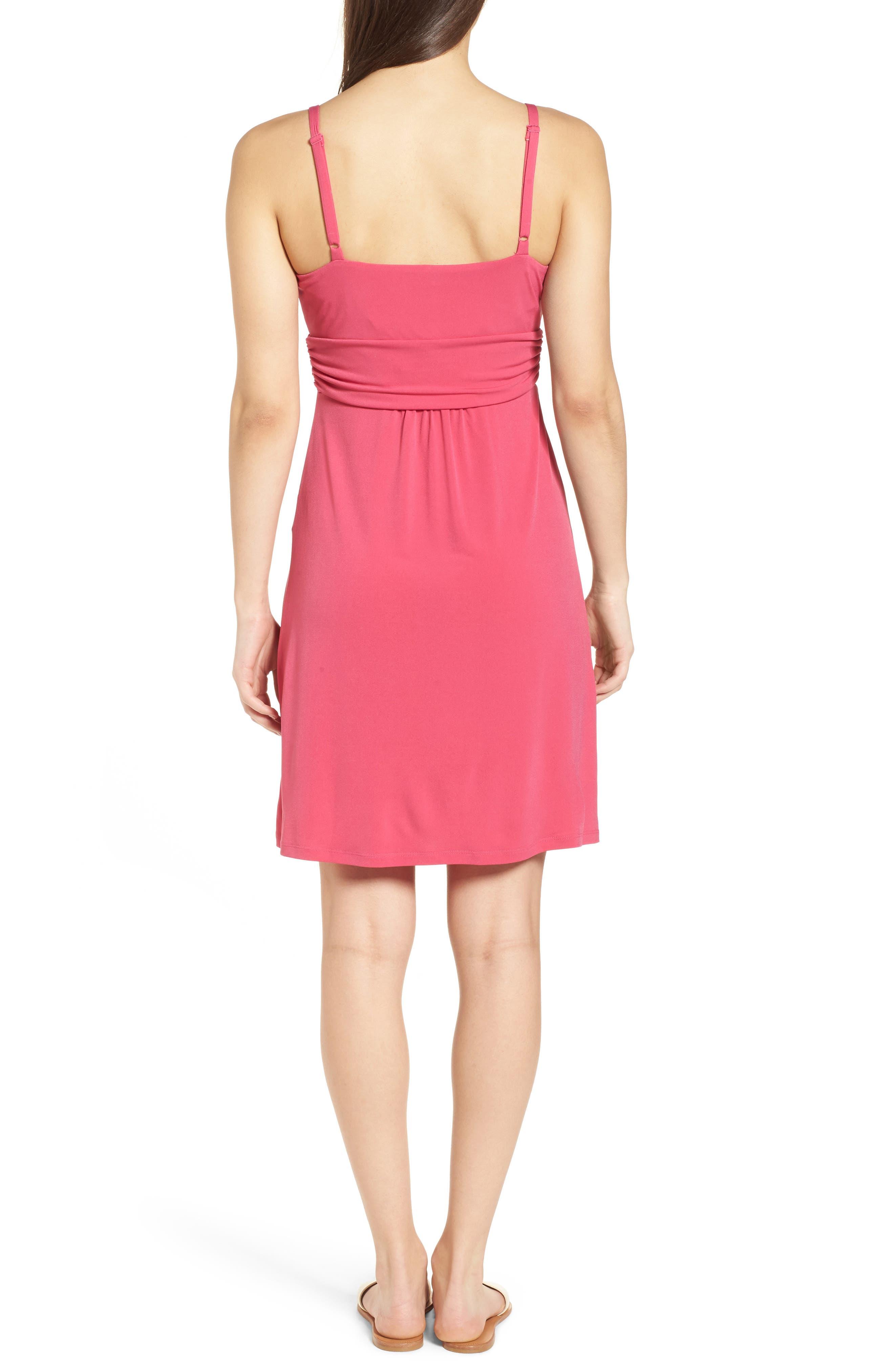 Elenna Stretch Jersey Sundress,                             Alternate thumbnail 2, color,                             Bright Blush