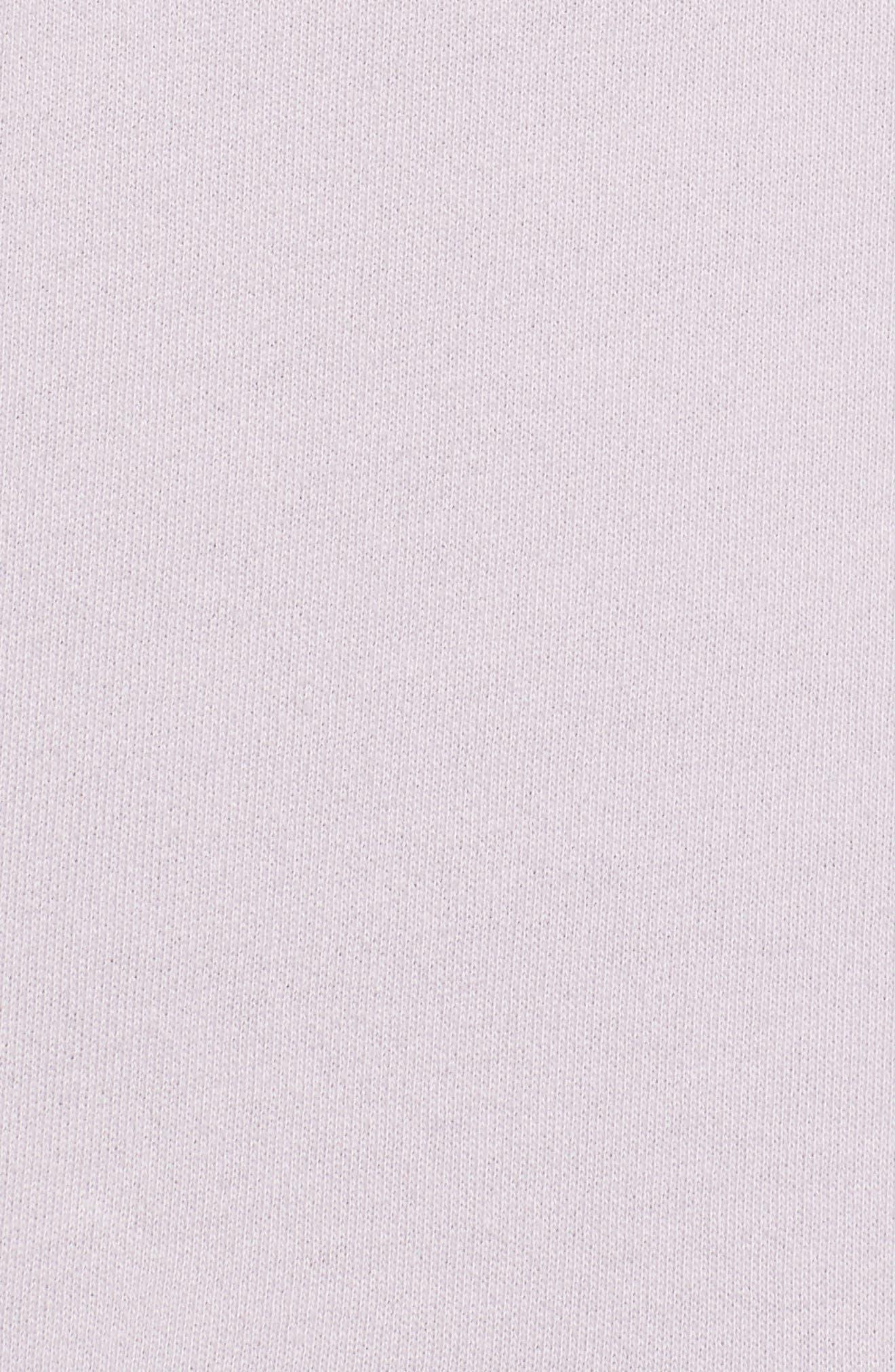 Miya Funnel Neck Sweatshirt,                             Alternate thumbnail 6, color,                             Lavender Fog