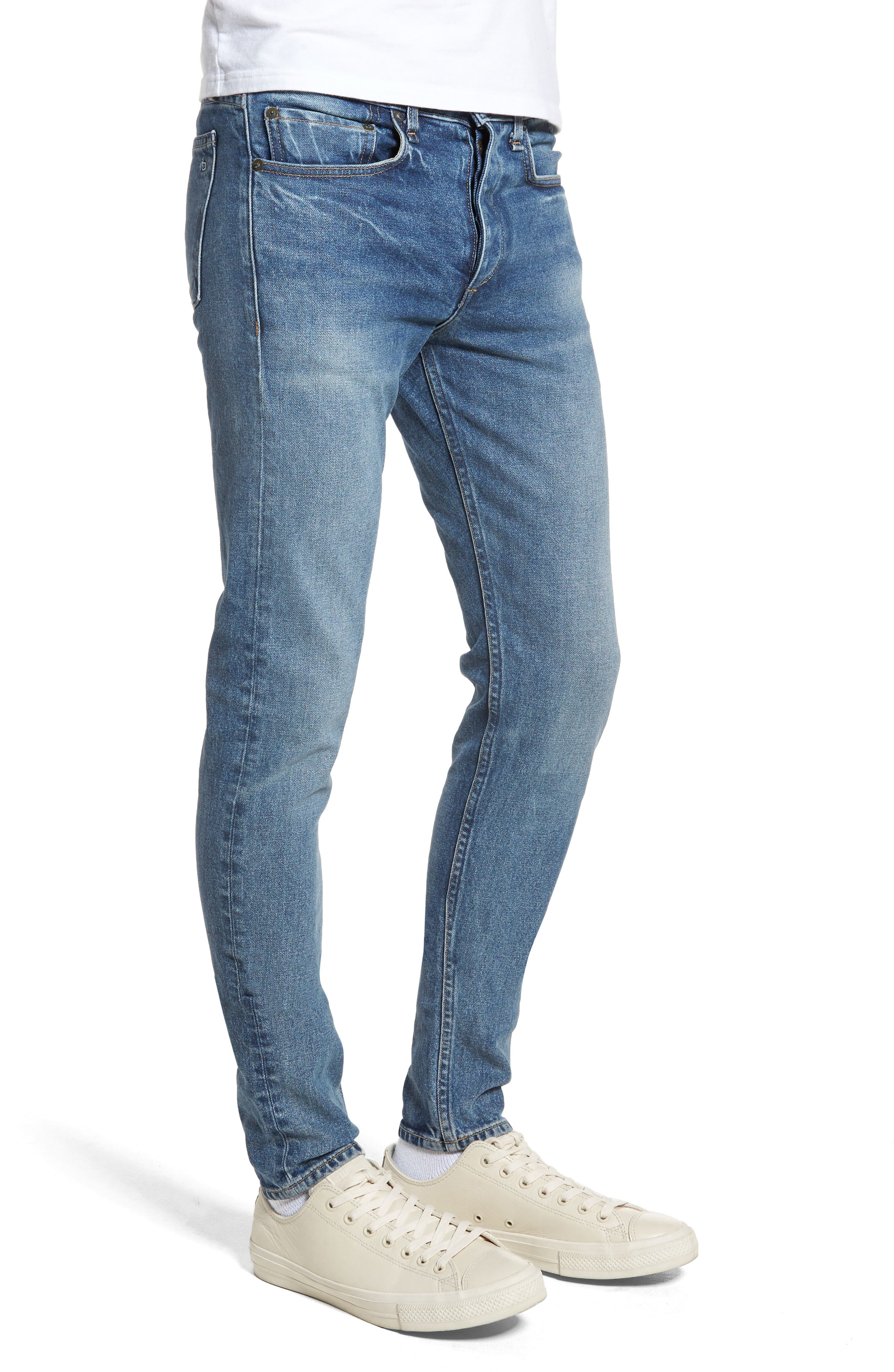 Fit 1 Skinny Fit Jeans,                             Alternate thumbnail 3, color,                             Brighton