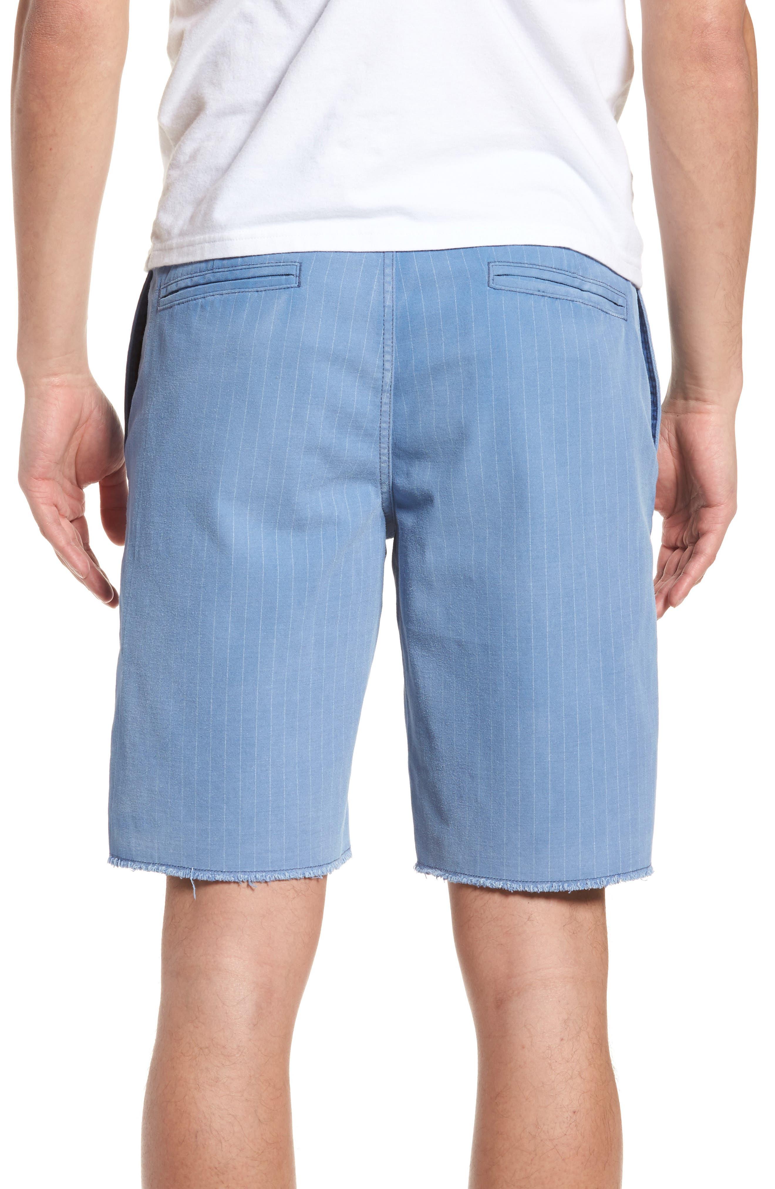 Print Frost Wash Shorts,                             Alternate thumbnail 2, color,                             Blue Camp Stripe