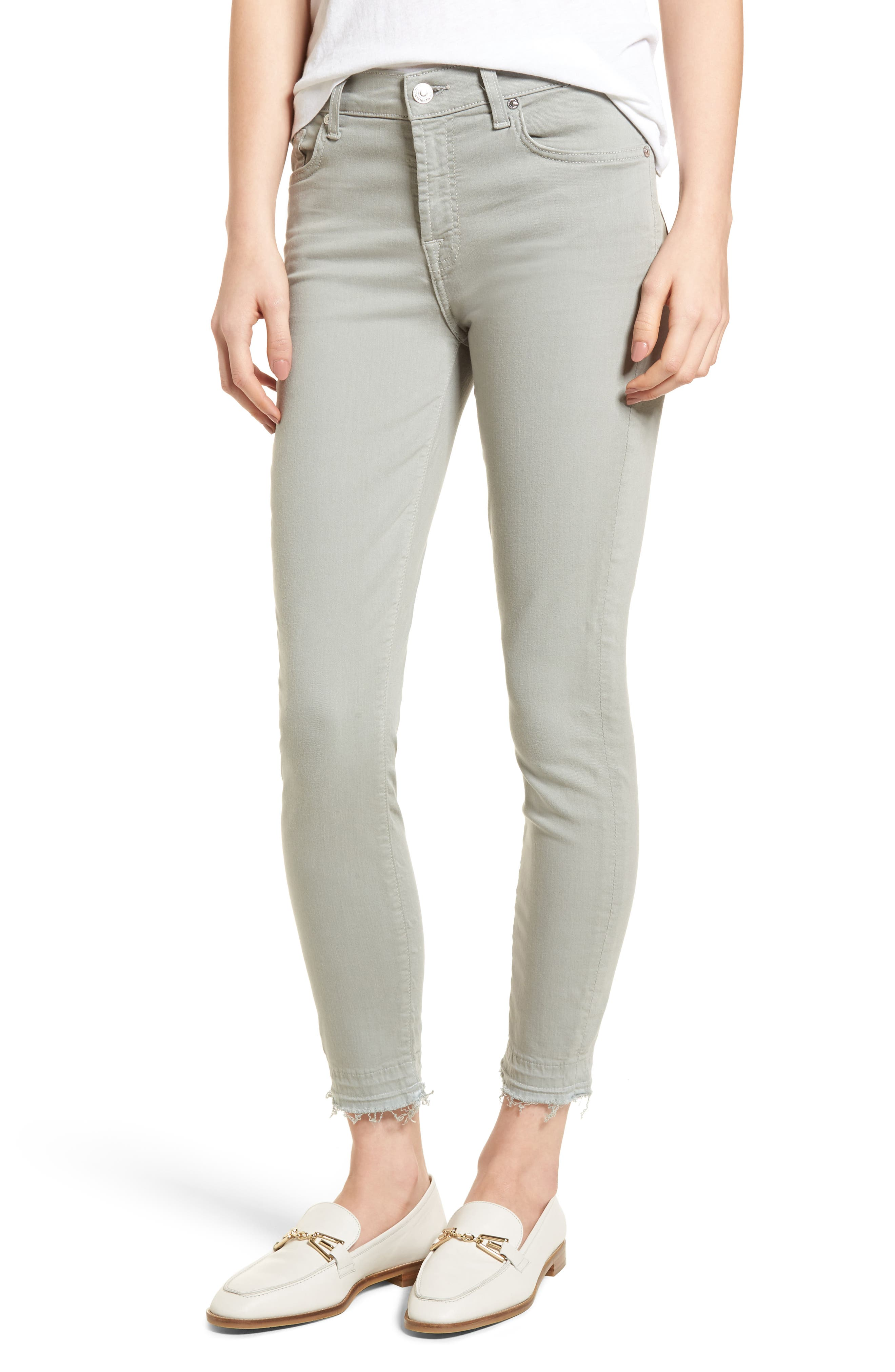 Released Hem Ankle Skinny Jeans,                         Main,                         color, Agave