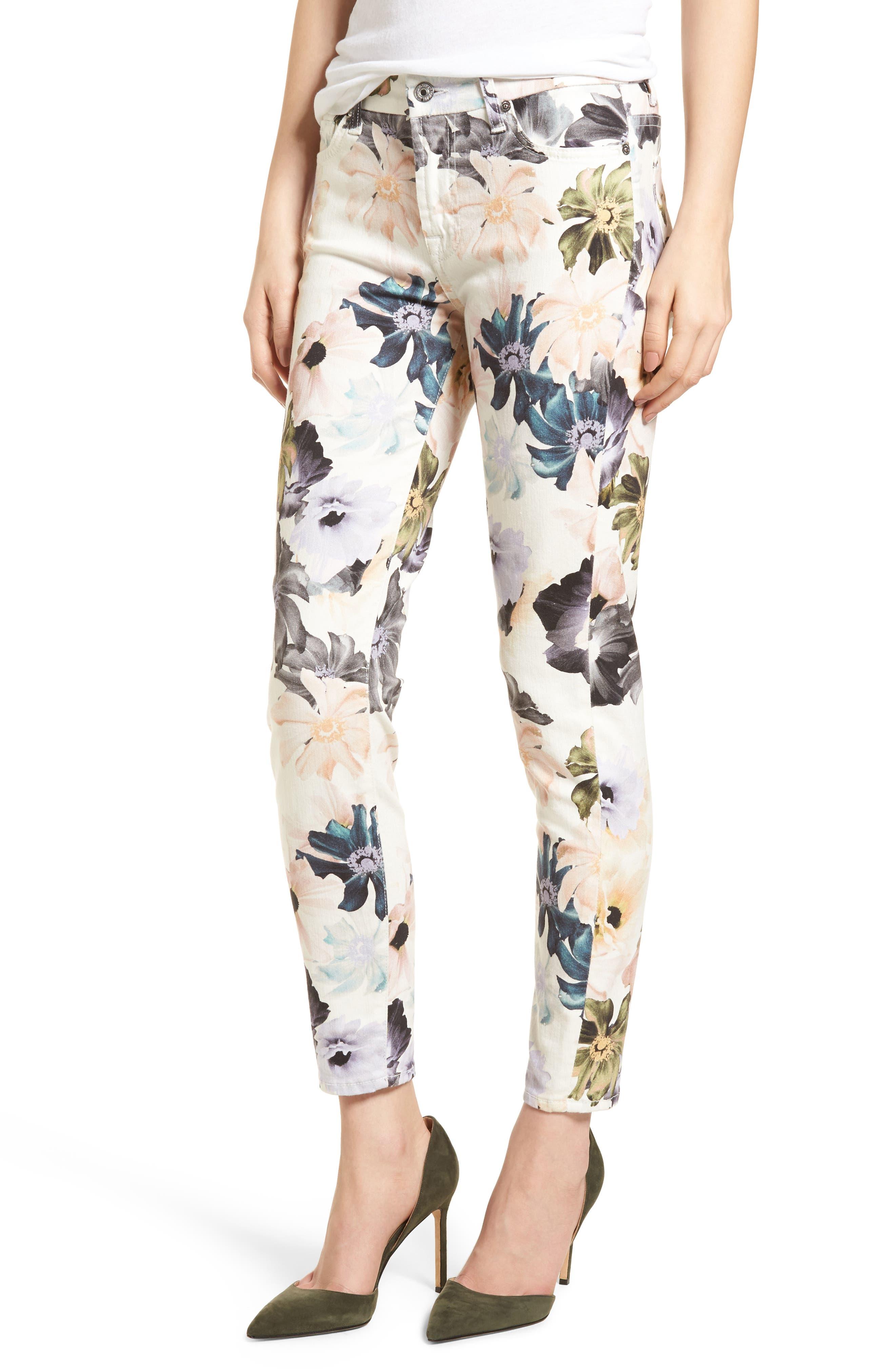 The Ankle Skinny Jeans,                         Main,                         color, Desert Garden