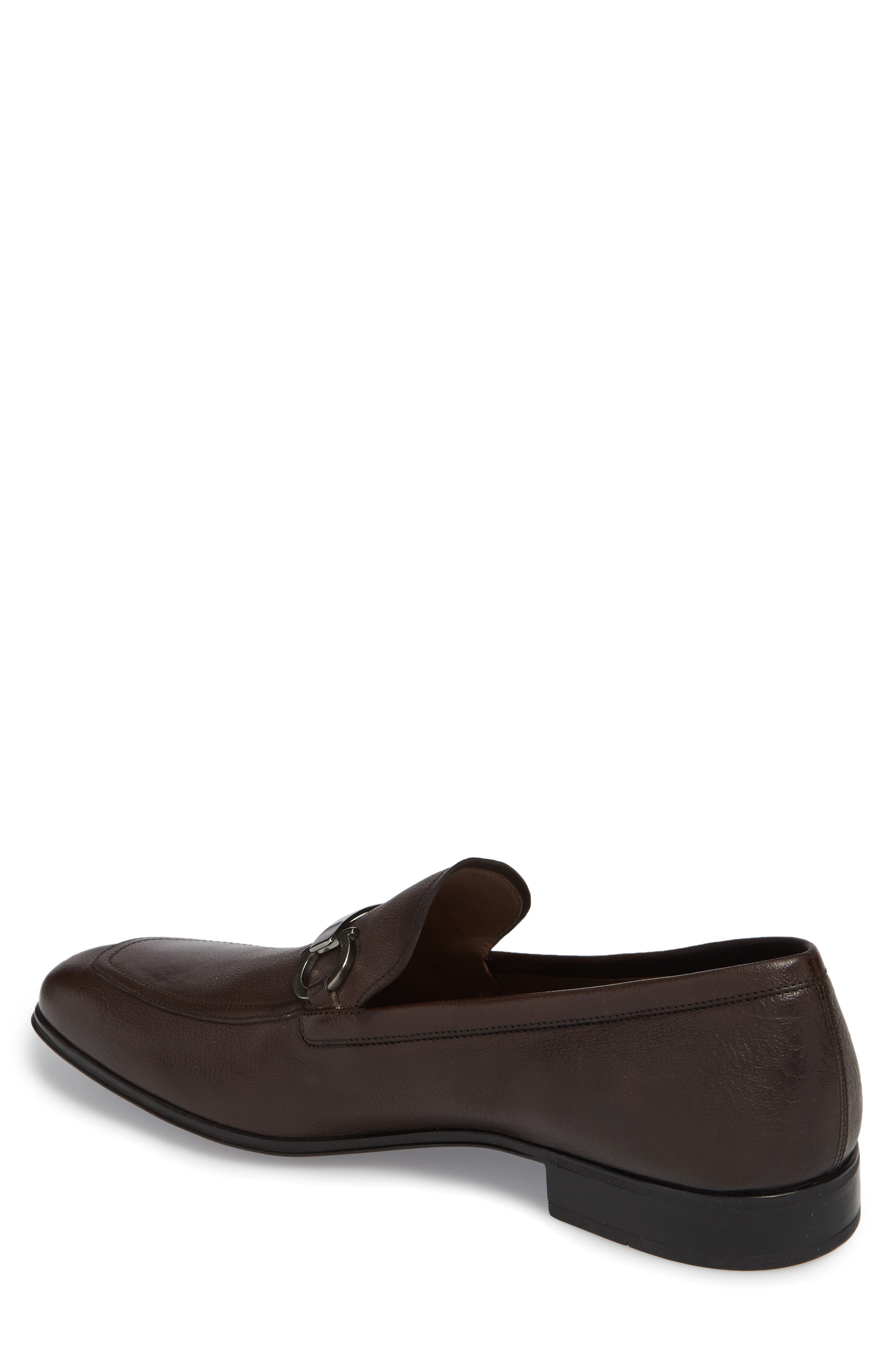 Borges Apron Toe Loafer,                             Alternate thumbnail 2, color,                             Brown Leather
