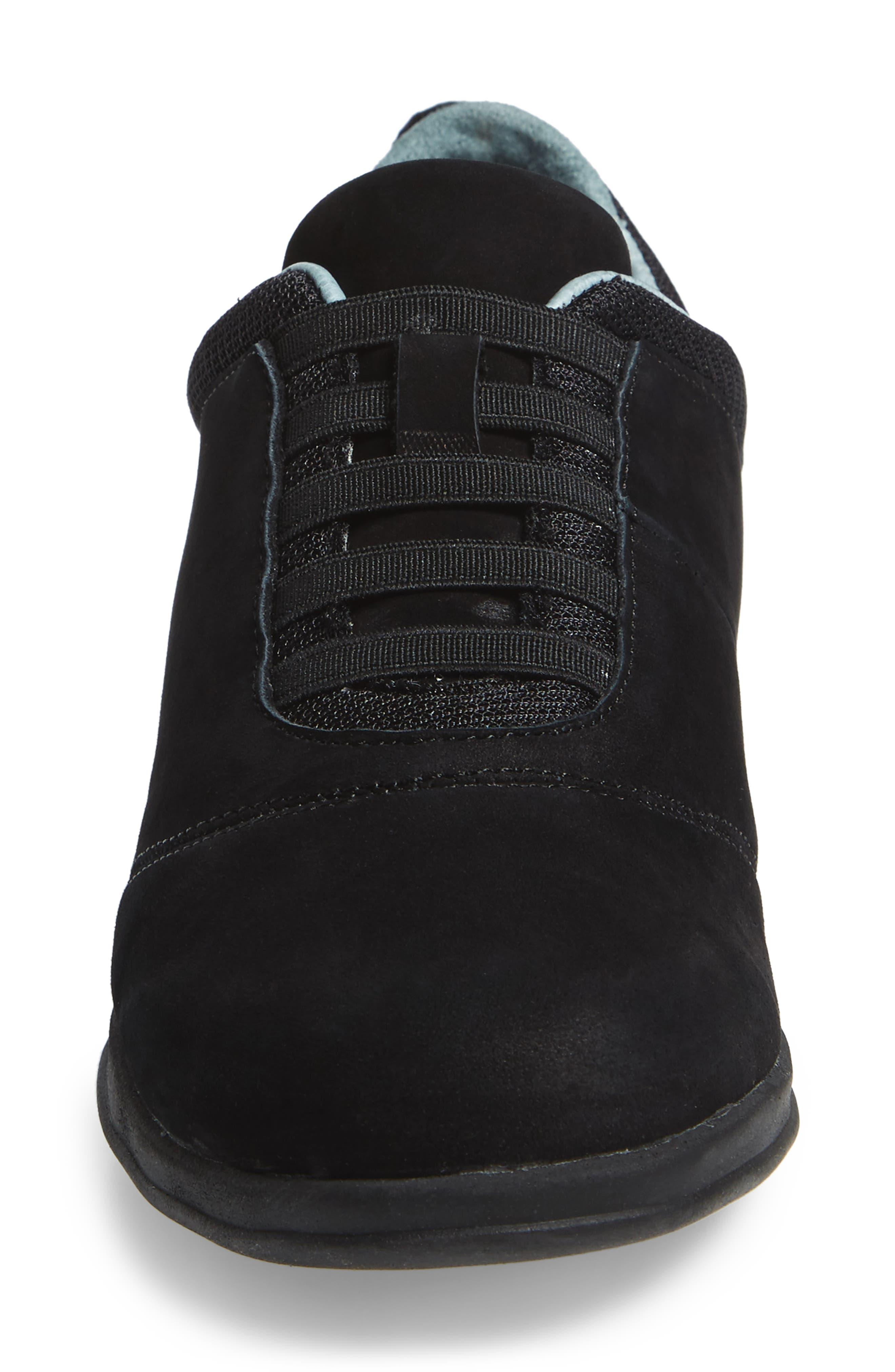 Dynamic Slip-On Sneaker,                             Alternate thumbnail 4, color,                             Black Nubuck