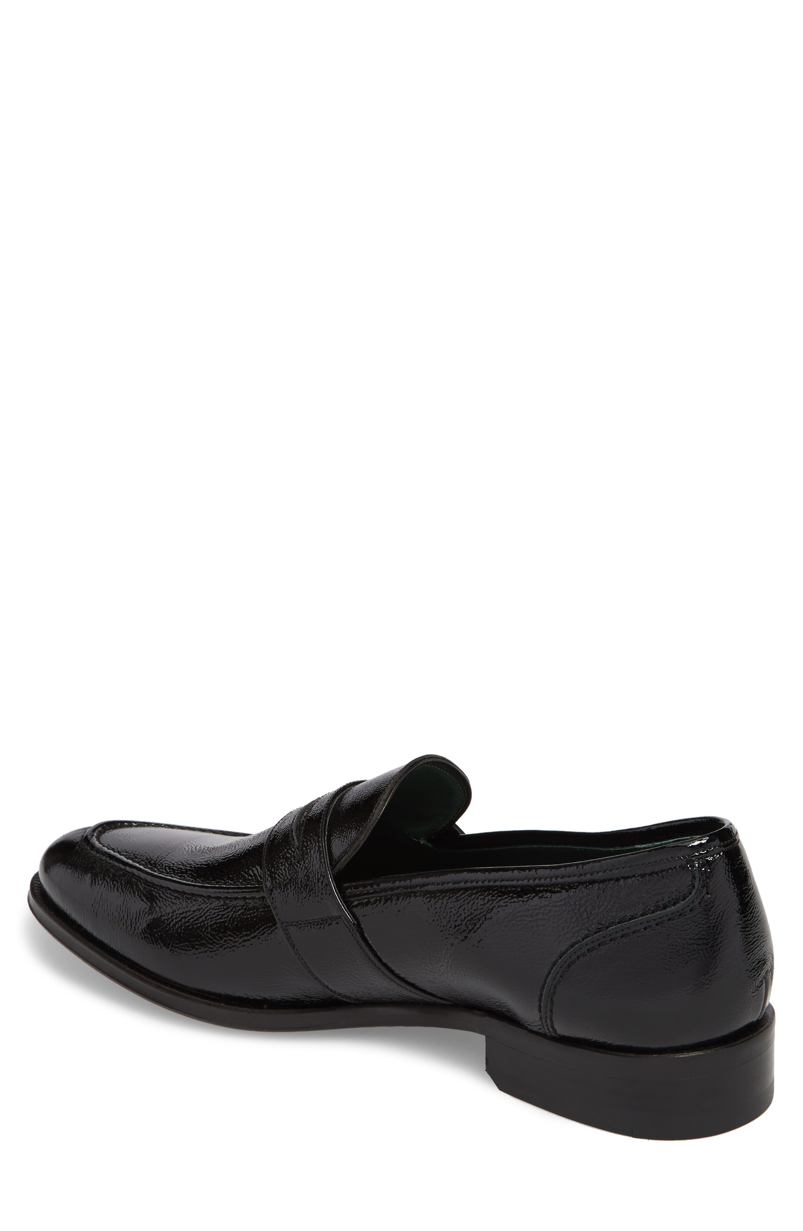 Argos Penny Loafer,                             Alternate thumbnail 2, color,                             Black Patent Leather