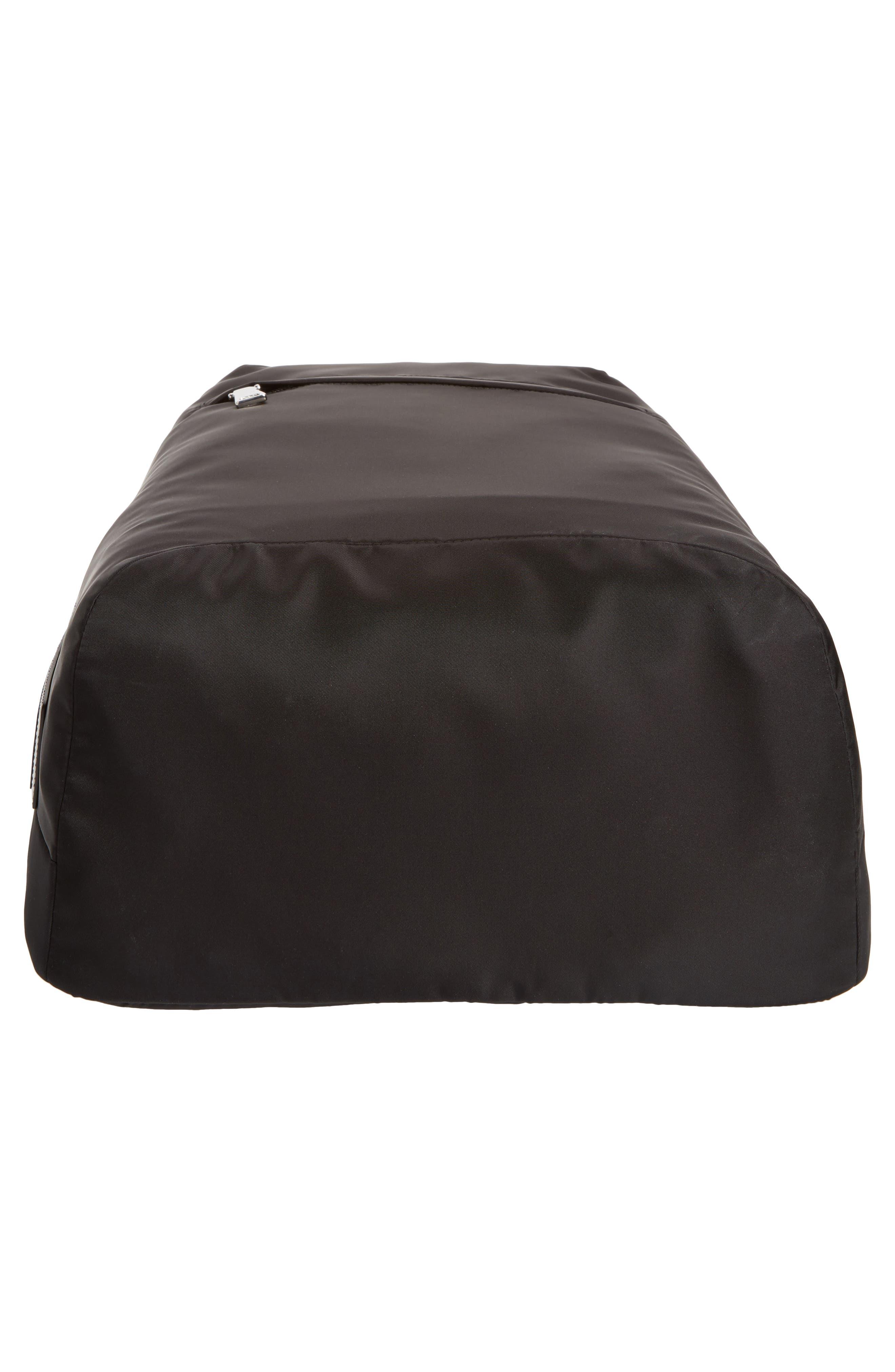 Nylon Backpack,                             Alternate thumbnail 6, color,                             Black