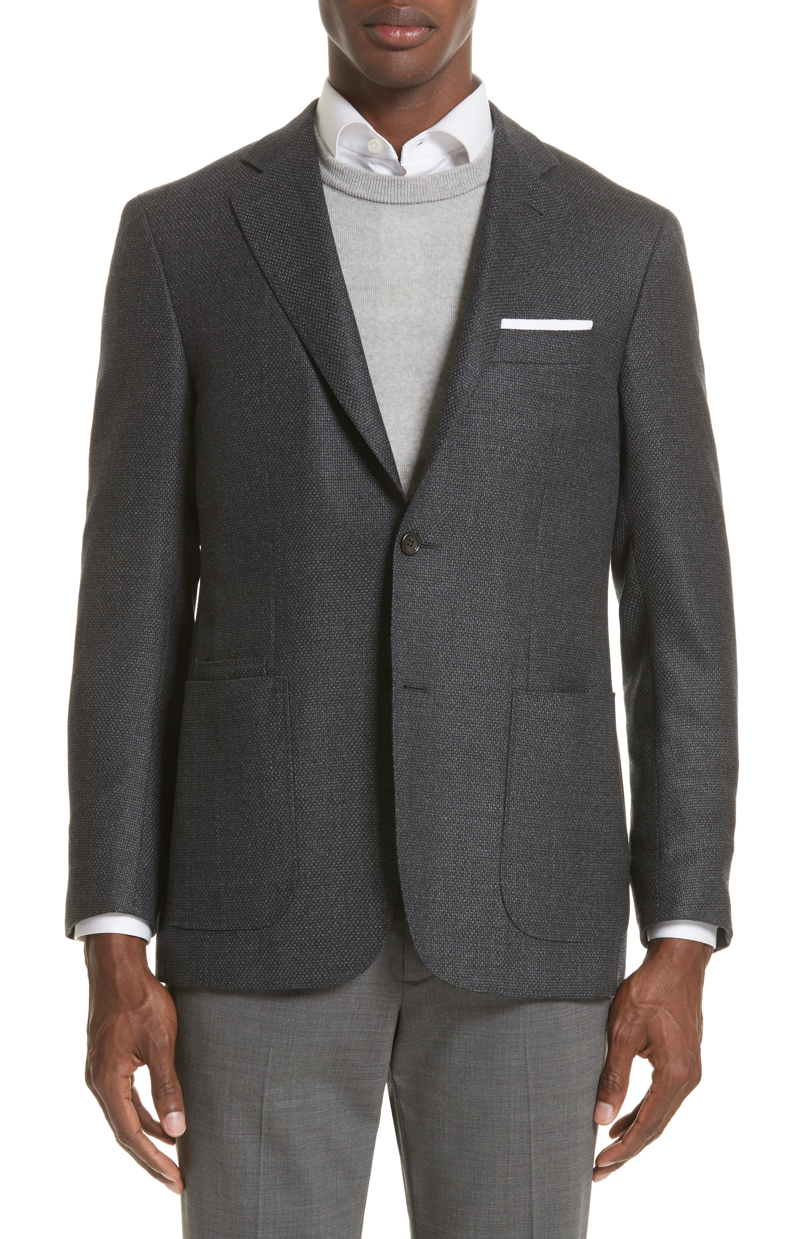 Canali Kei Classic Fit Wool Blazer
