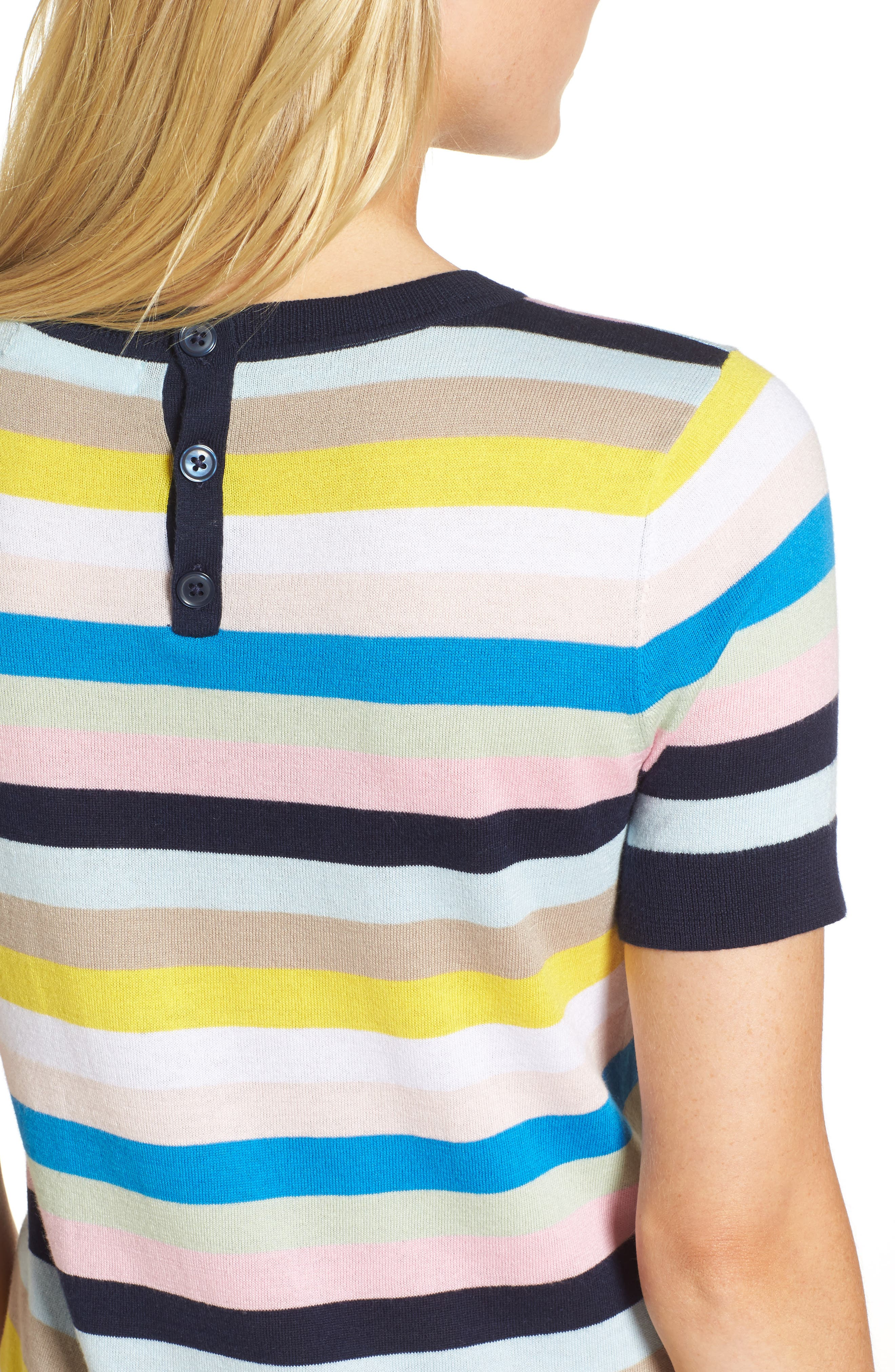 Crewneck Sweater,                             Alternate thumbnail 4, color,                             Blue Multi Stripe