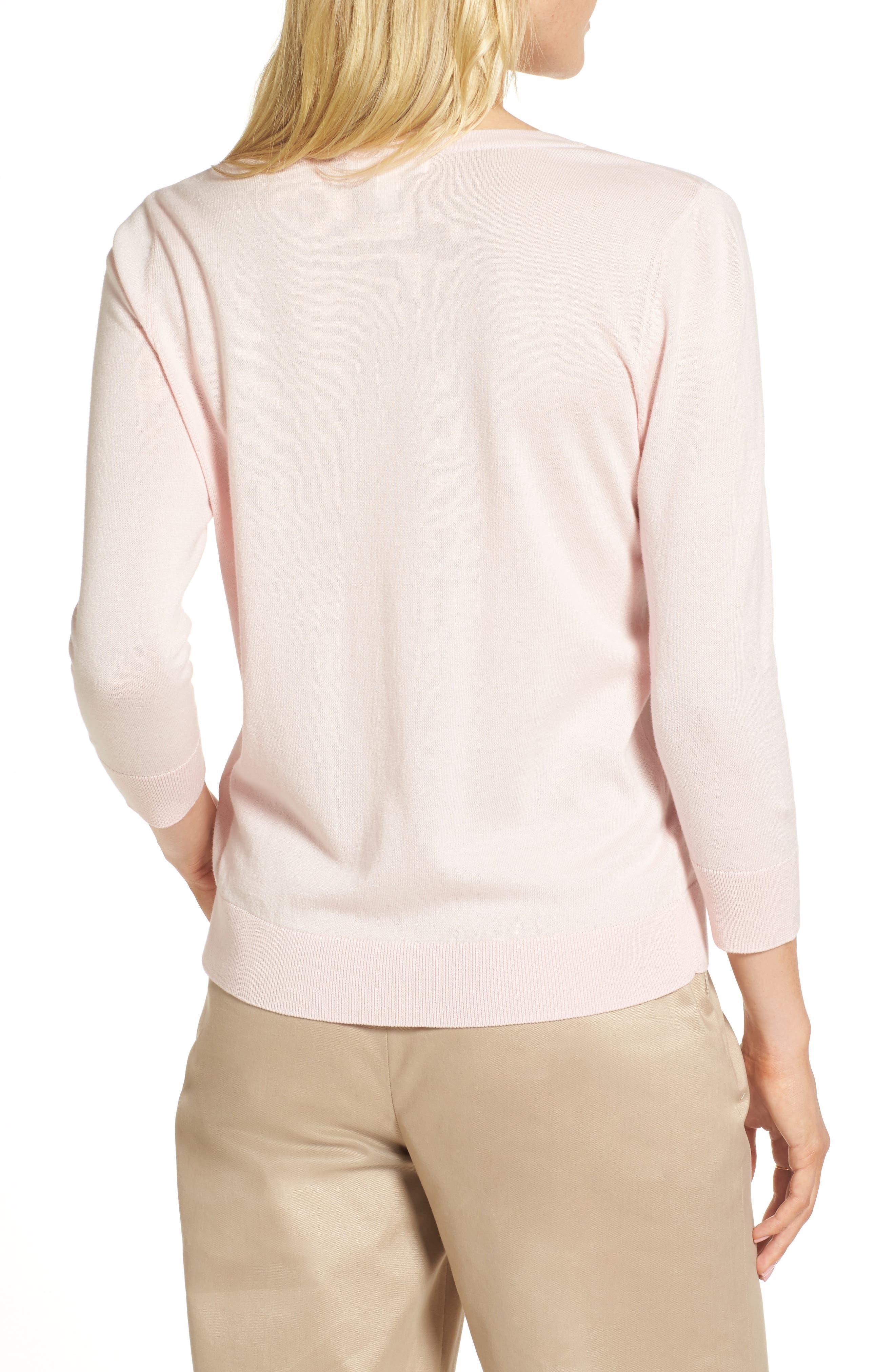 Cotton Blend Cardigan,                             Alternate thumbnail 2, color,                             Pink Potpourri