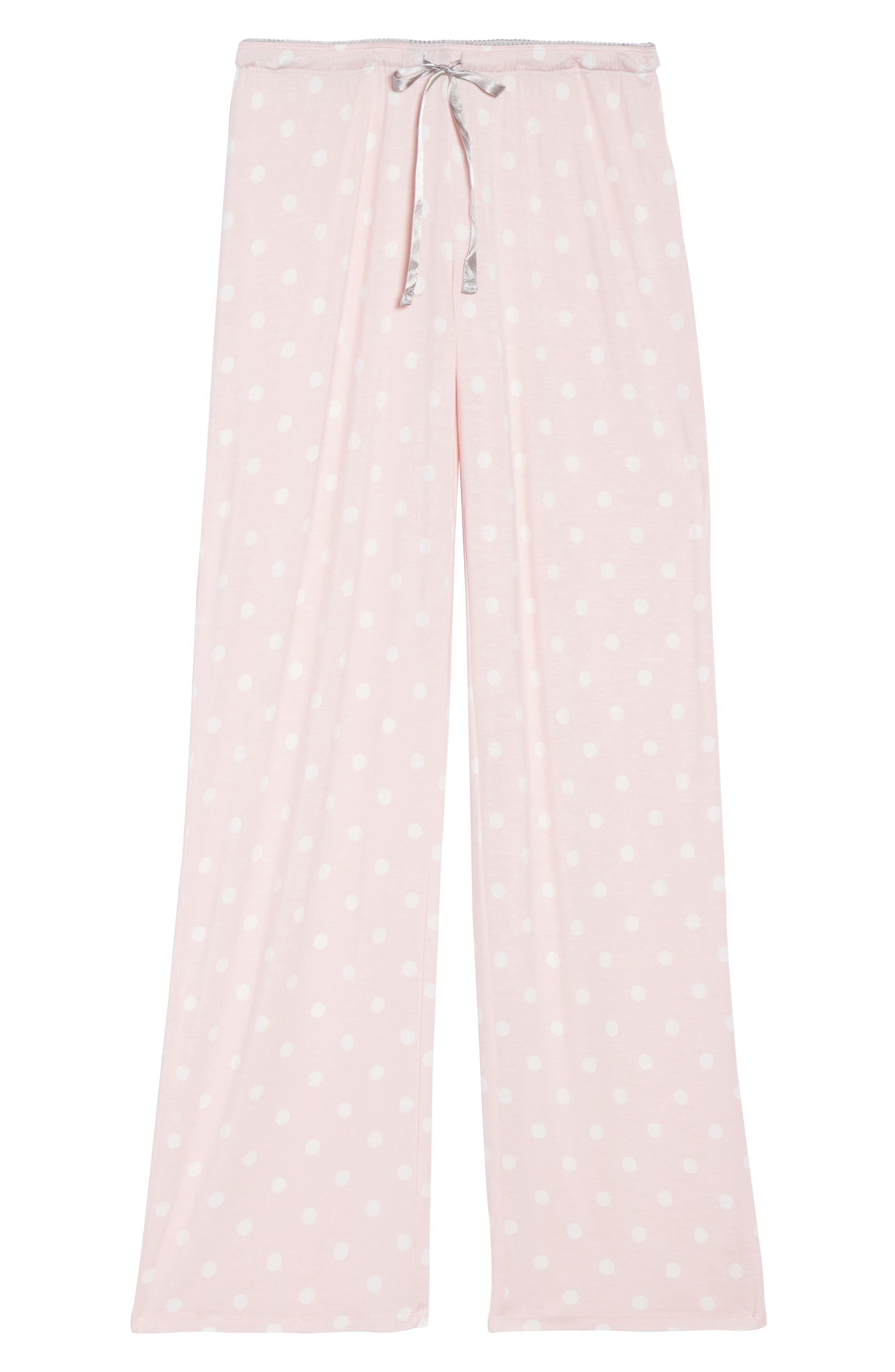 Drawstring Pajama Pants,                             Alternate thumbnail 7, color,                             Pink