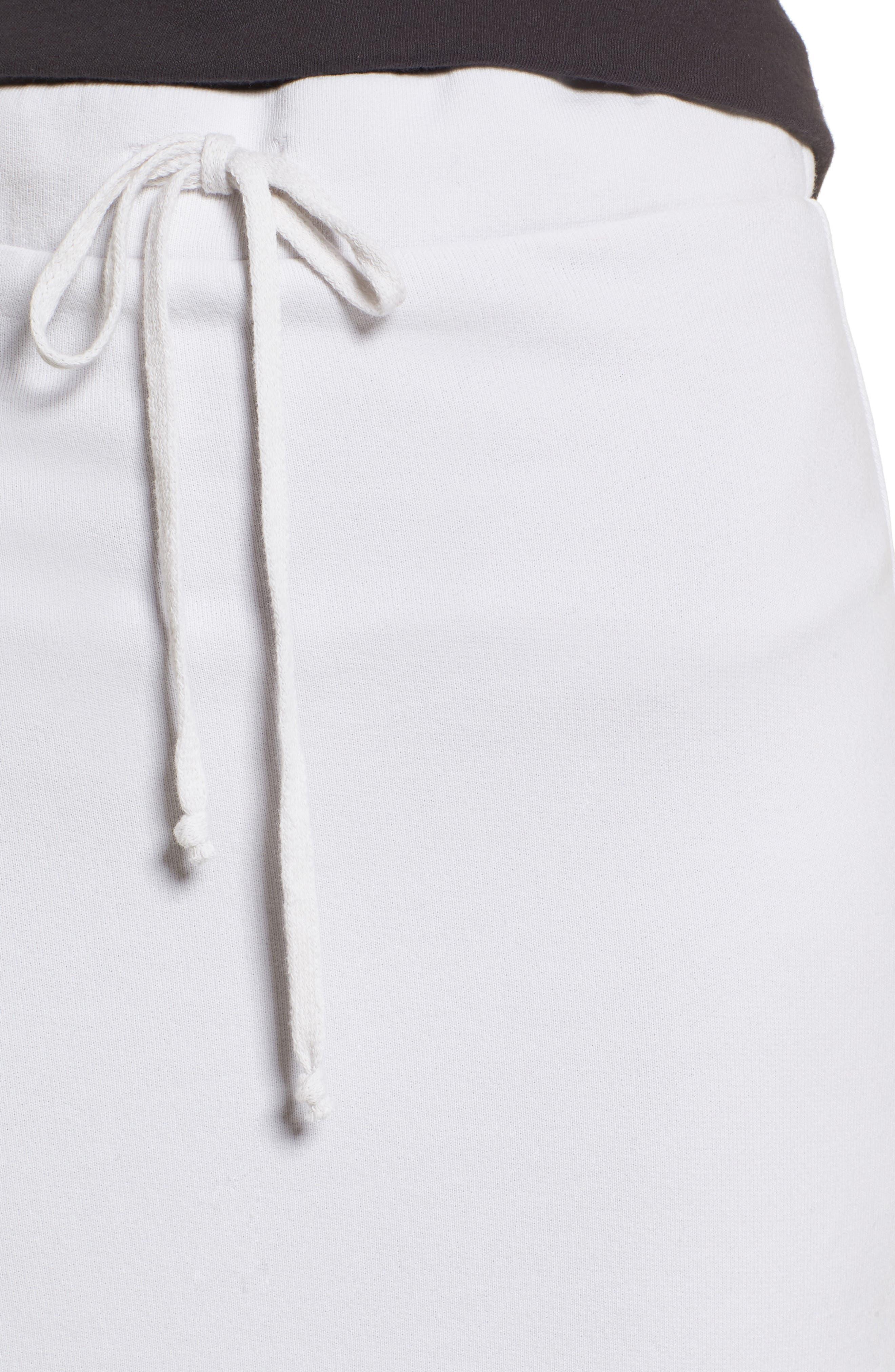 Midi Fleece Skirt,                             Alternate thumbnail 5, color,                             Dirty White