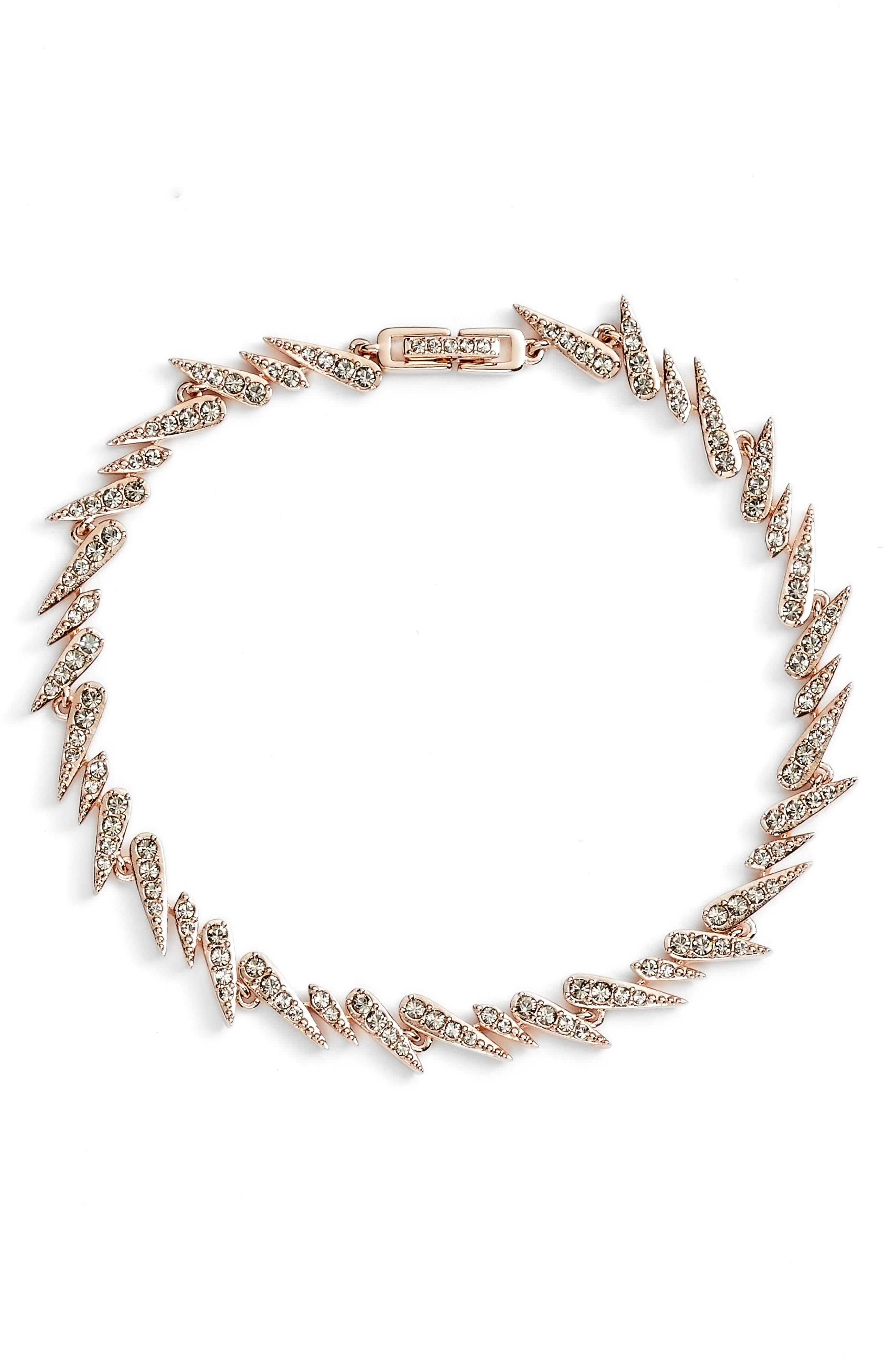 Sparkle Bracelet,                         Main,                         color, Rose Gold