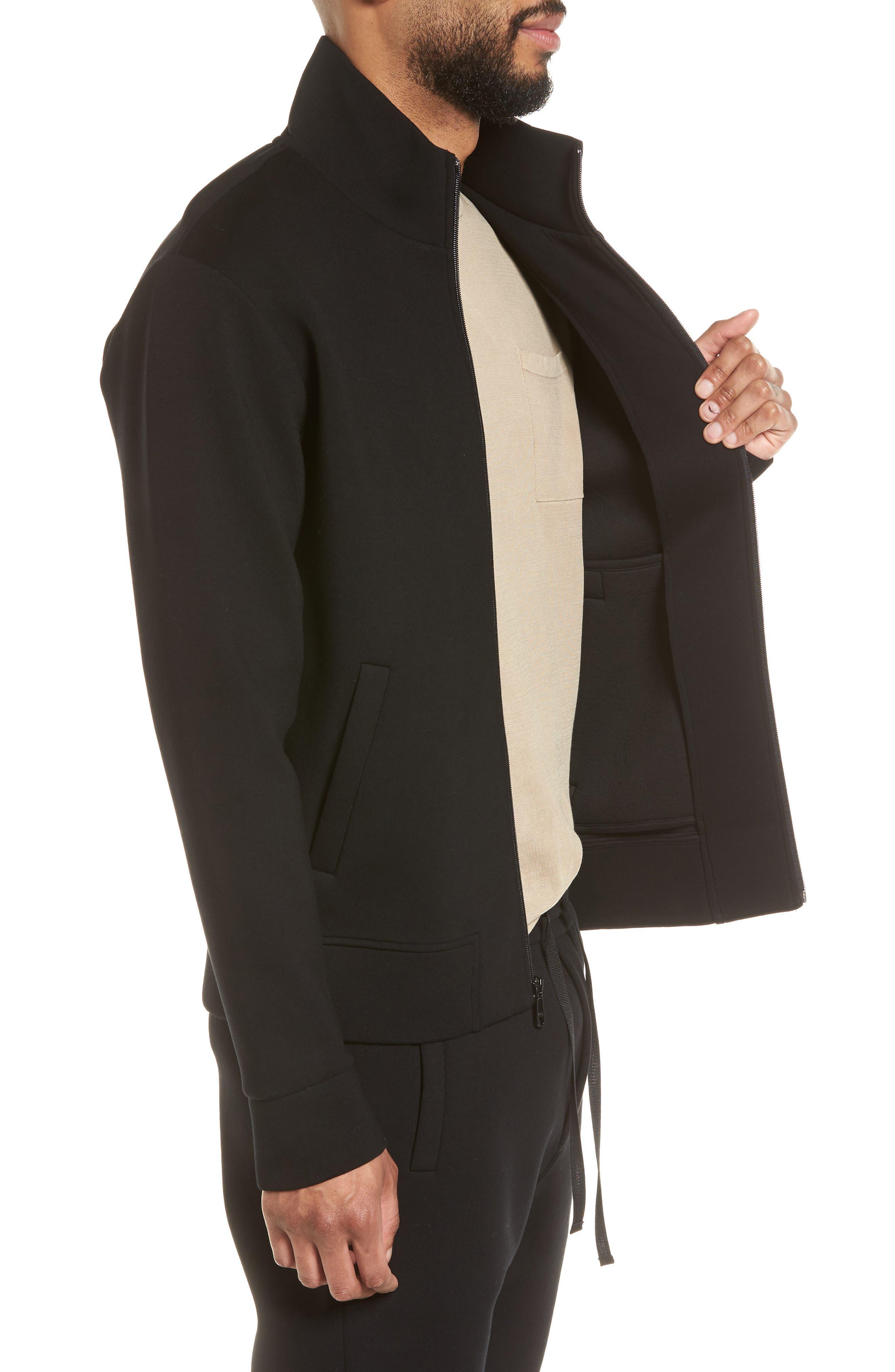 Slim Fit Tech Jacket,                             Alternate thumbnail 3, color,                             Black
