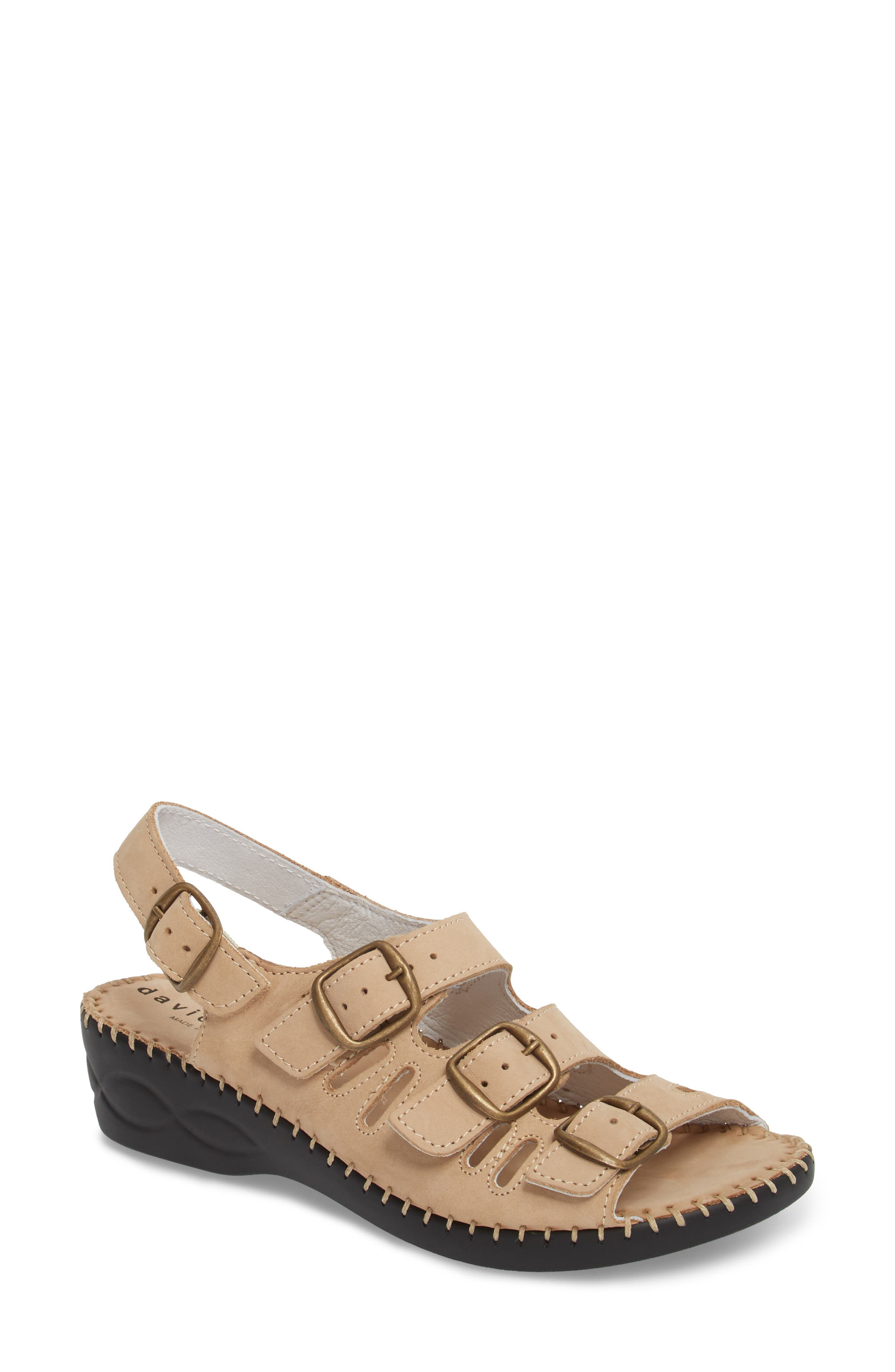 David Tate Luna Slingback Wedge Sandal (Women)