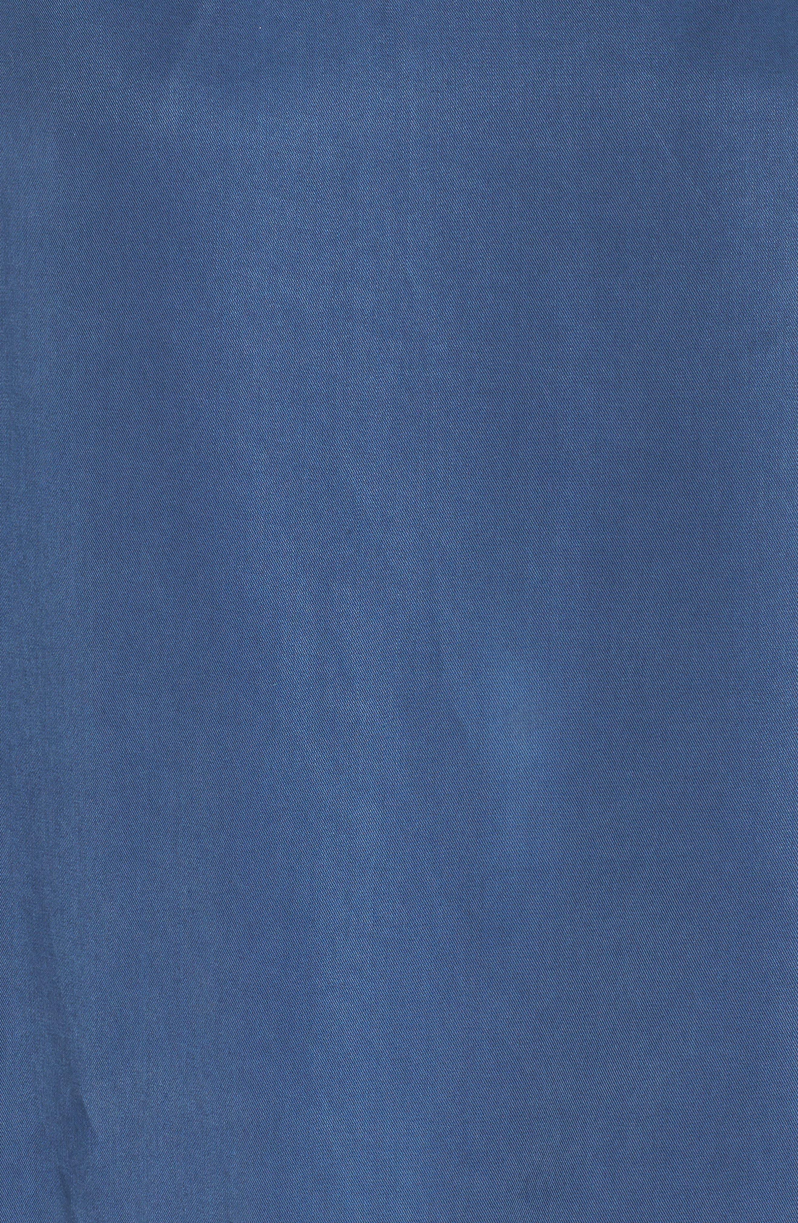 Lace-Up Shift Dress,                             Alternate thumbnail 5, color,                             Denim