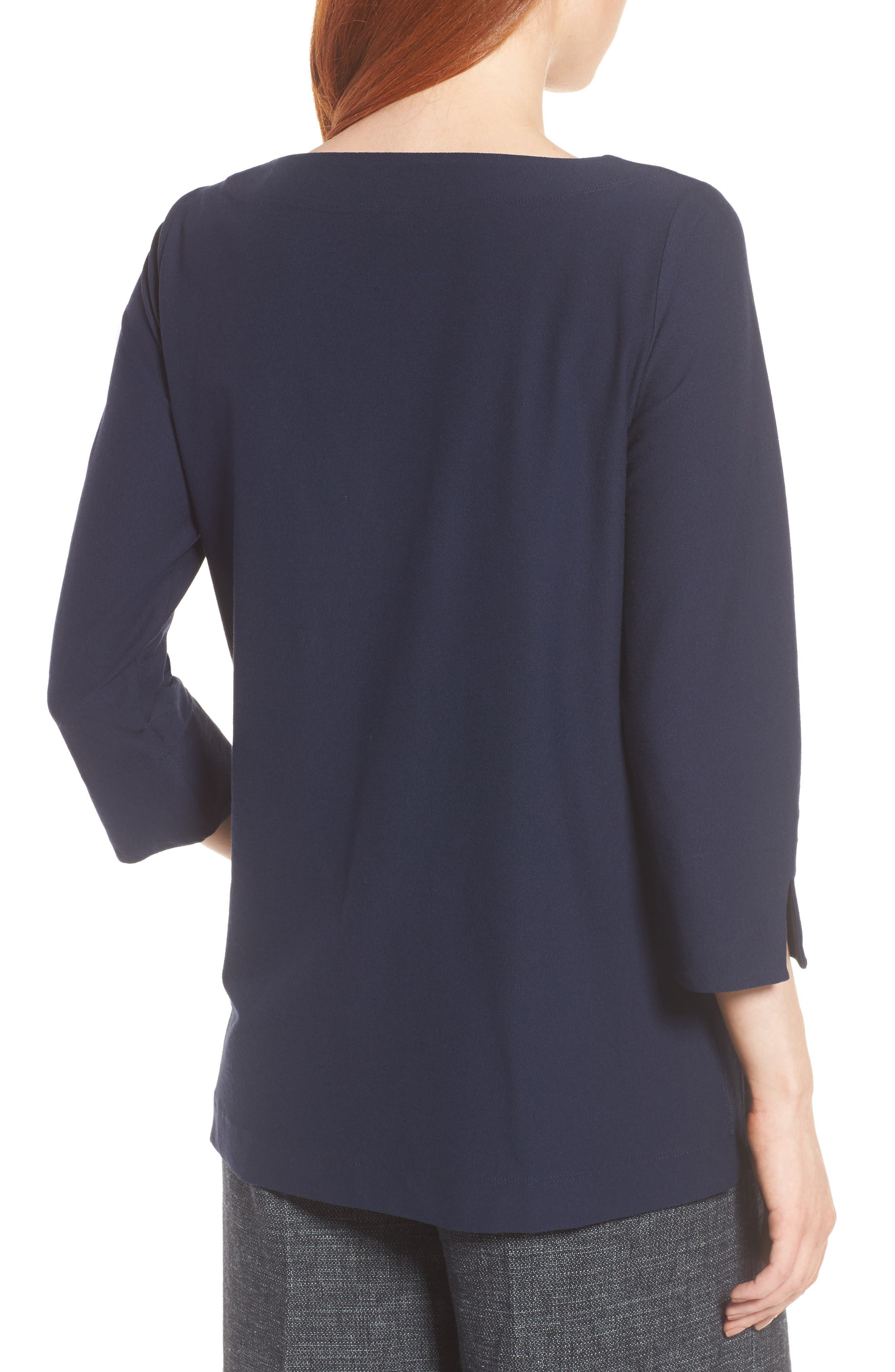 Boxy Jersey Top,                             Alternate thumbnail 2, color,                             Midnight