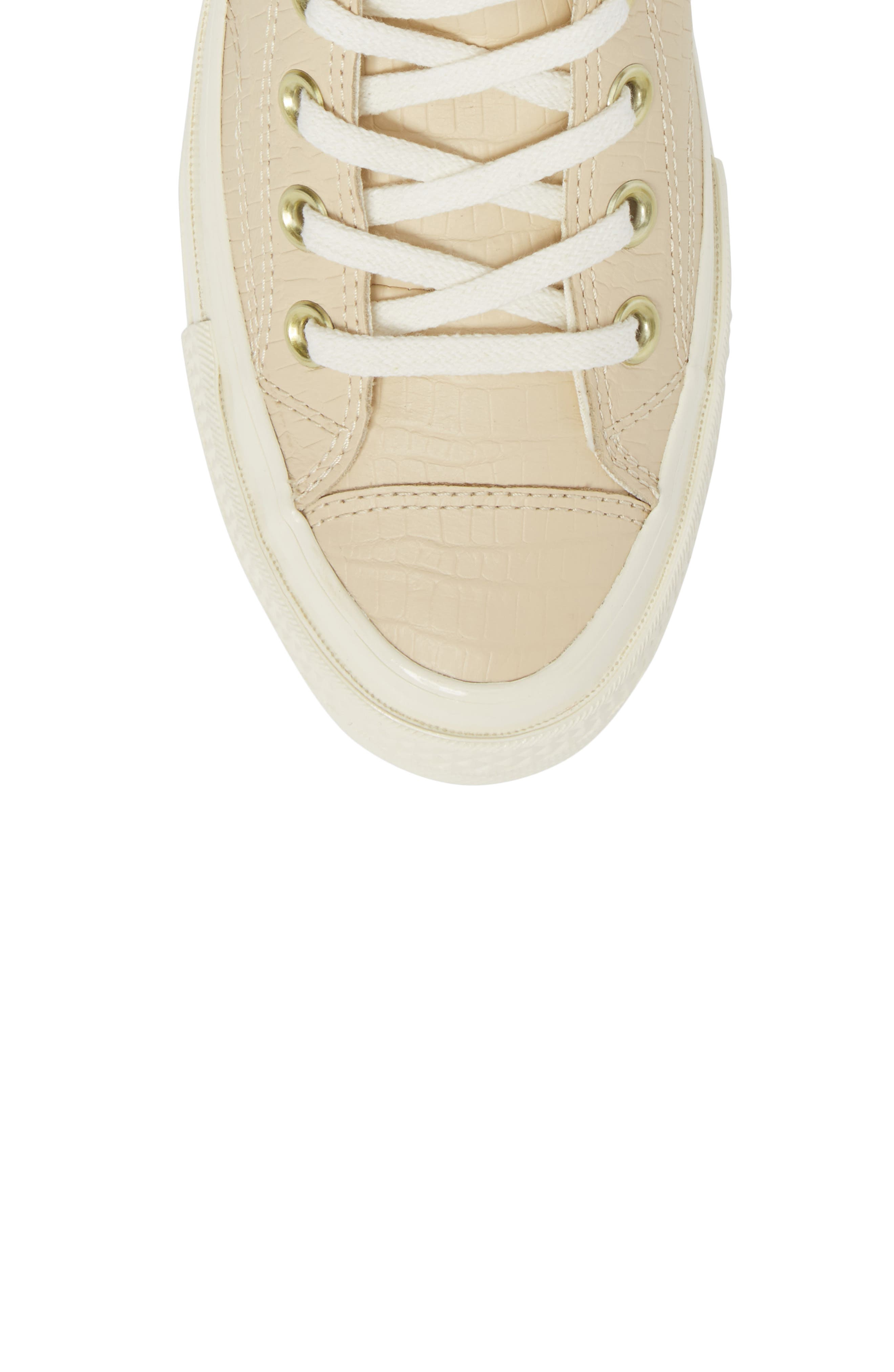 Chuck Taylor<sup>®</sup> All Star<sup>®</sup> CT 70 Reptile High Top Sneaker,                             Alternate thumbnail 5, color,                             Light Twine