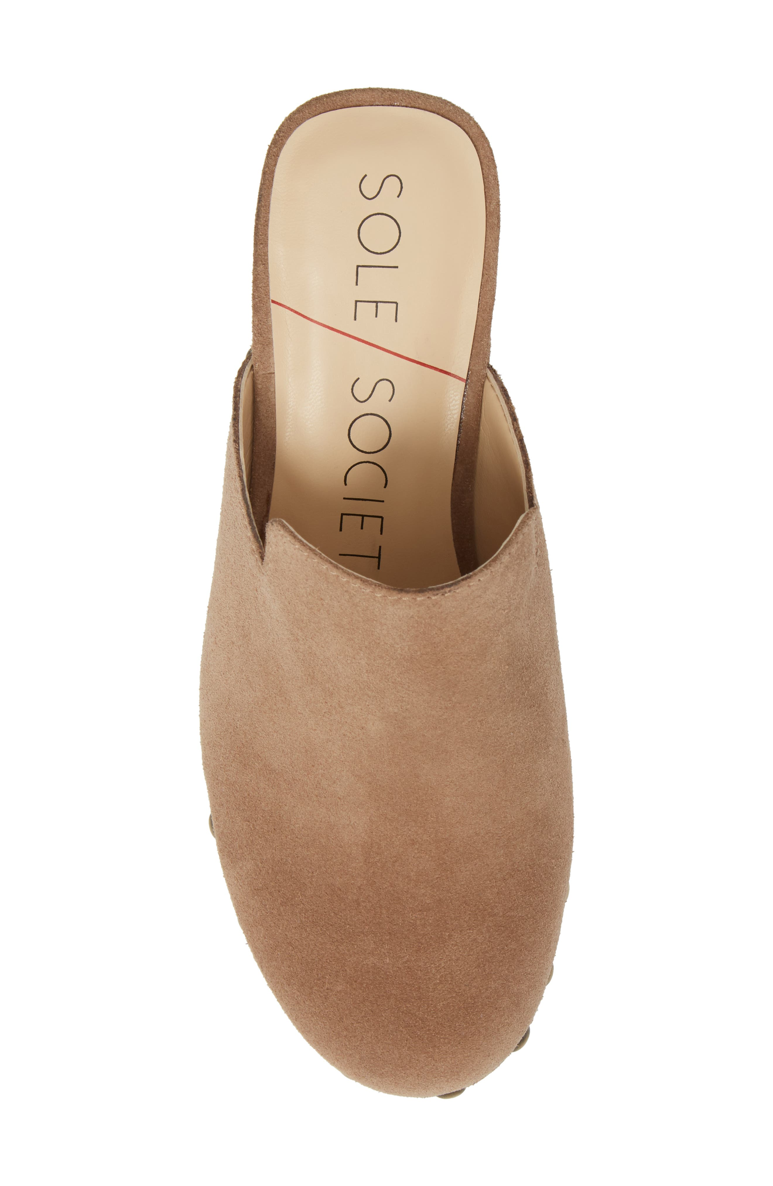 Madelina Clog,                             Alternate thumbnail 5, color,                             Taupe Cow Suede
