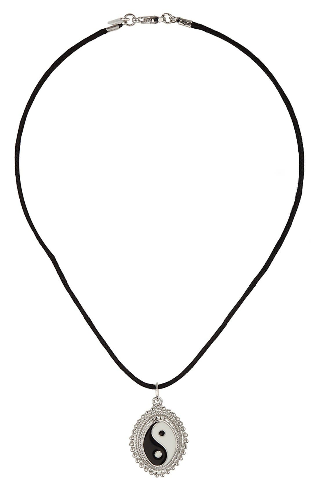Alternate Image 1 Selected - Topshop Yin & Yang Charm Necklace
