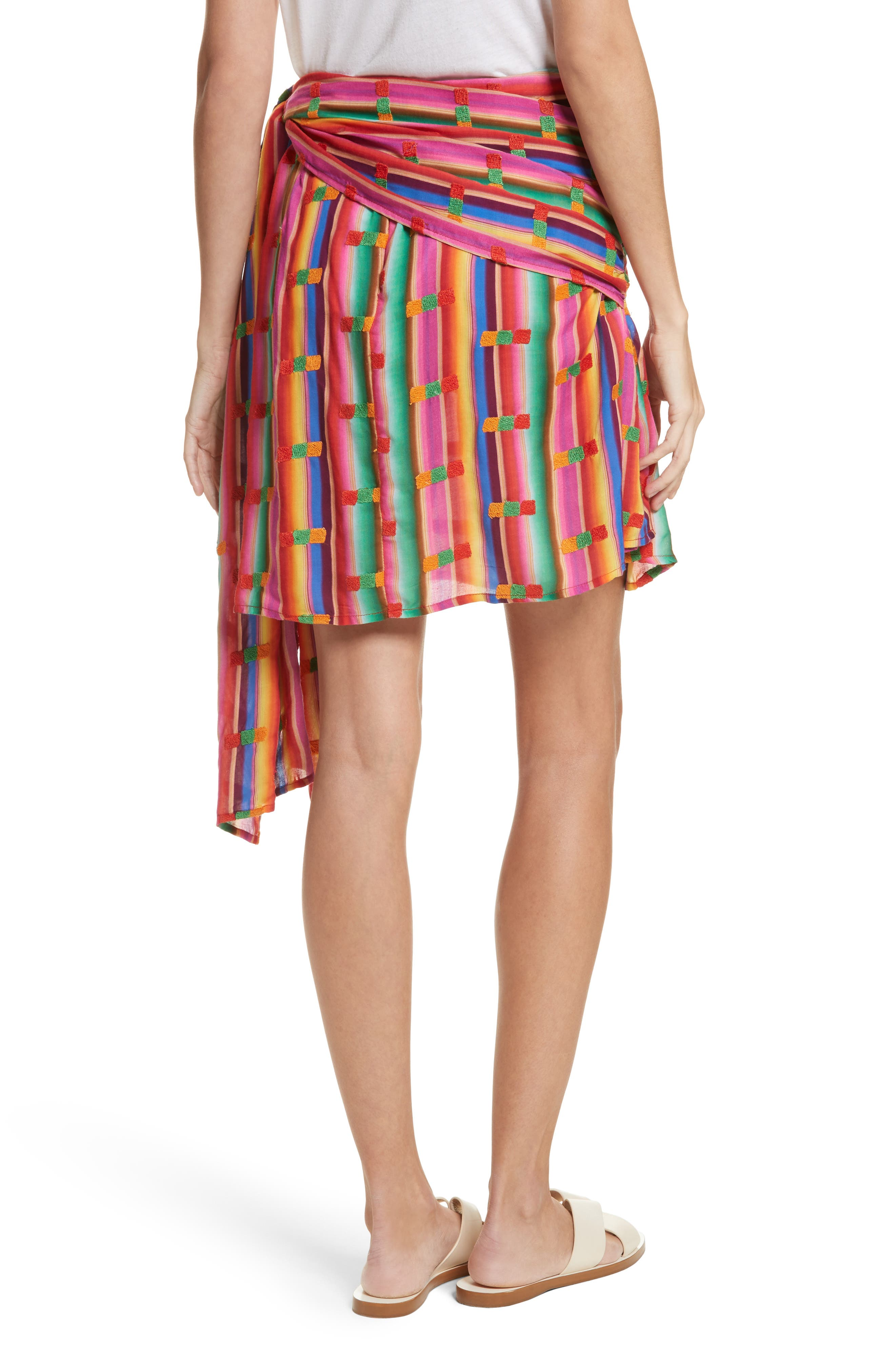 Roselie Wrap Style Skirt,                             Alternate thumbnail 2, color,                             Rainbow
