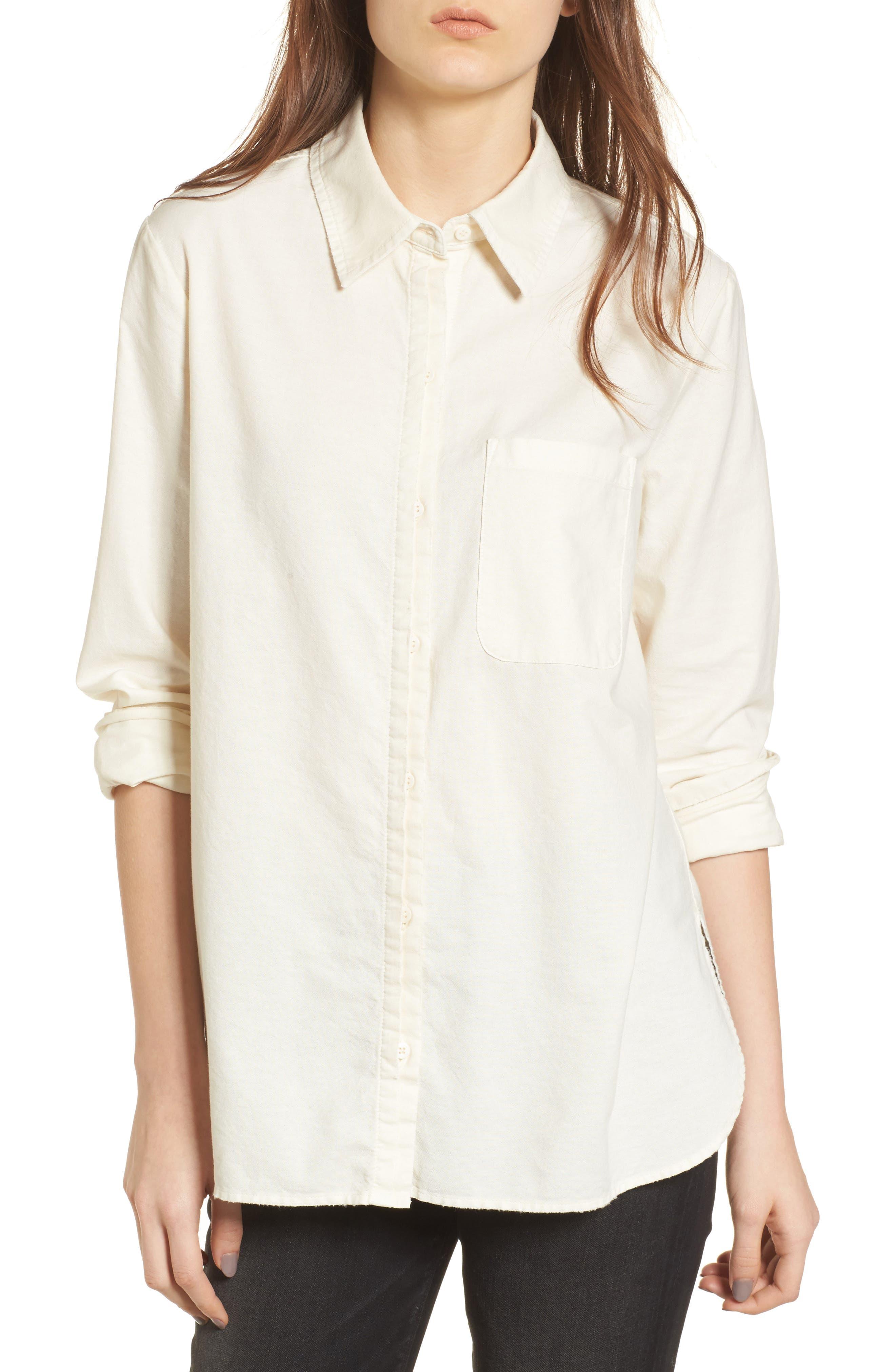 Shana Woven Shirt,                         Main,                         color, Sunbaked Misty Morning