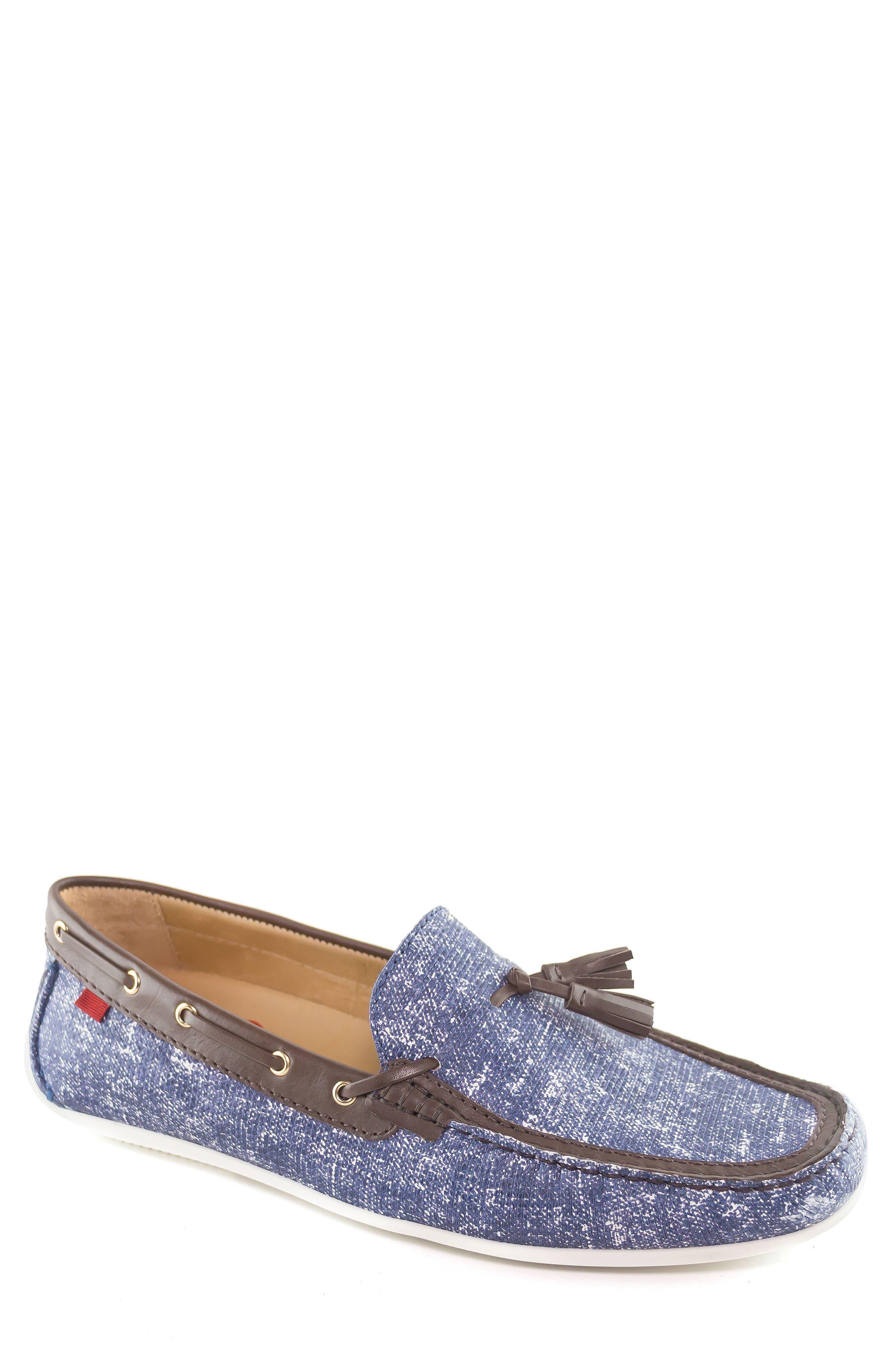 Bushwick Tasseled Driving Loafer,                             Main thumbnail 1, color,                             Jeans Blue