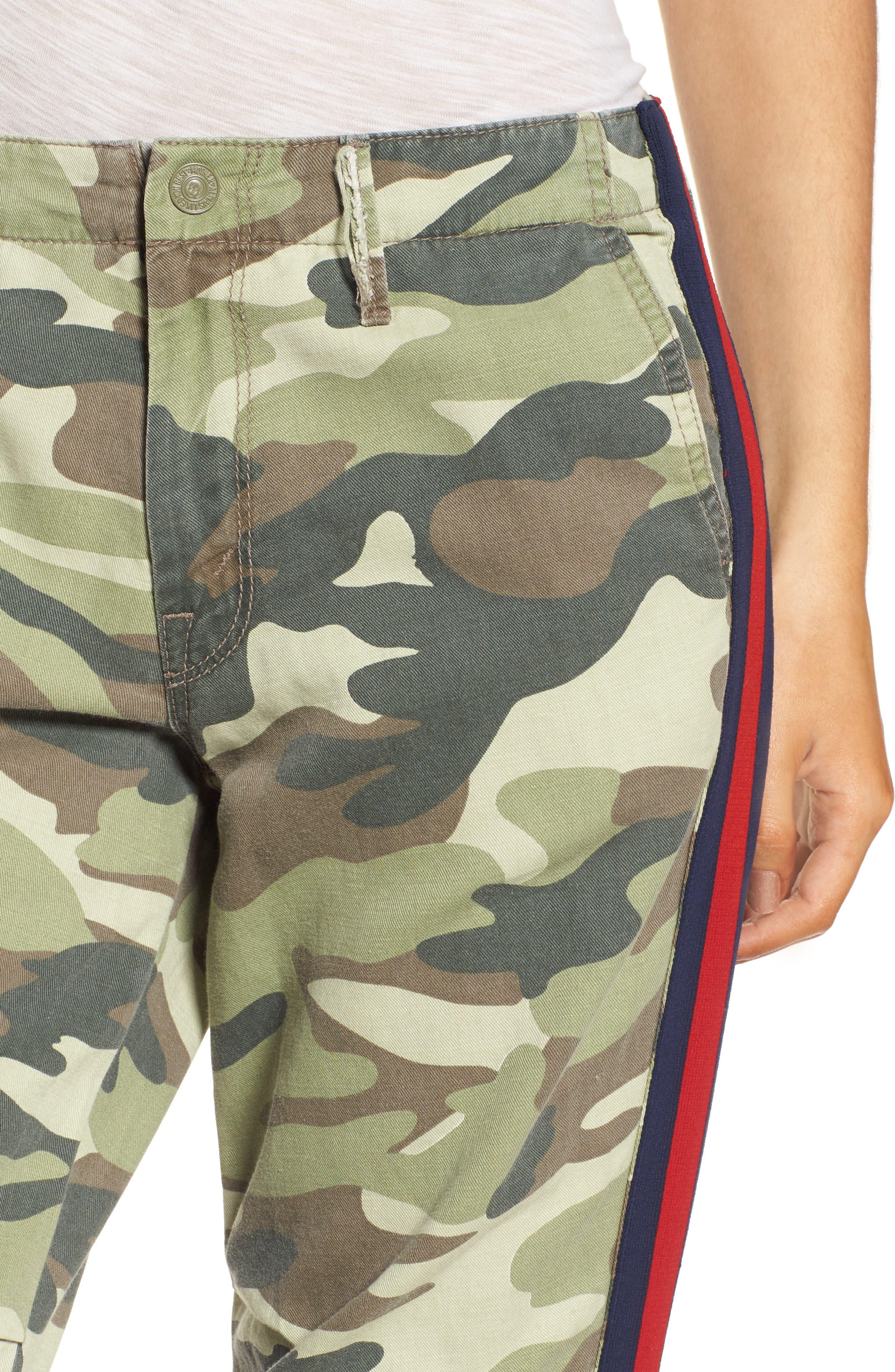 The Misfit Crop Pants,                             Alternate thumbnail 4, color,                             Camouflage
