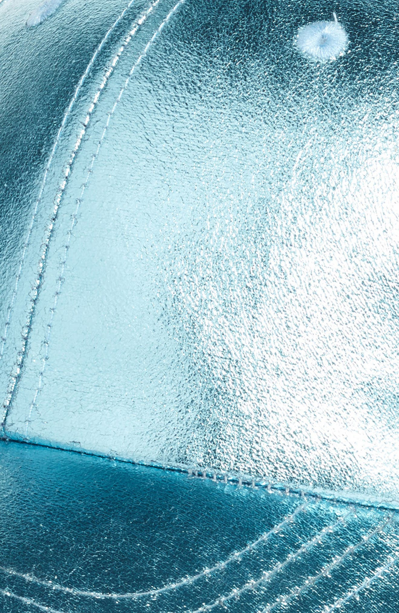 Crackled Metallic Baseball Cap,                             Alternate thumbnail 3, color,                             Blue