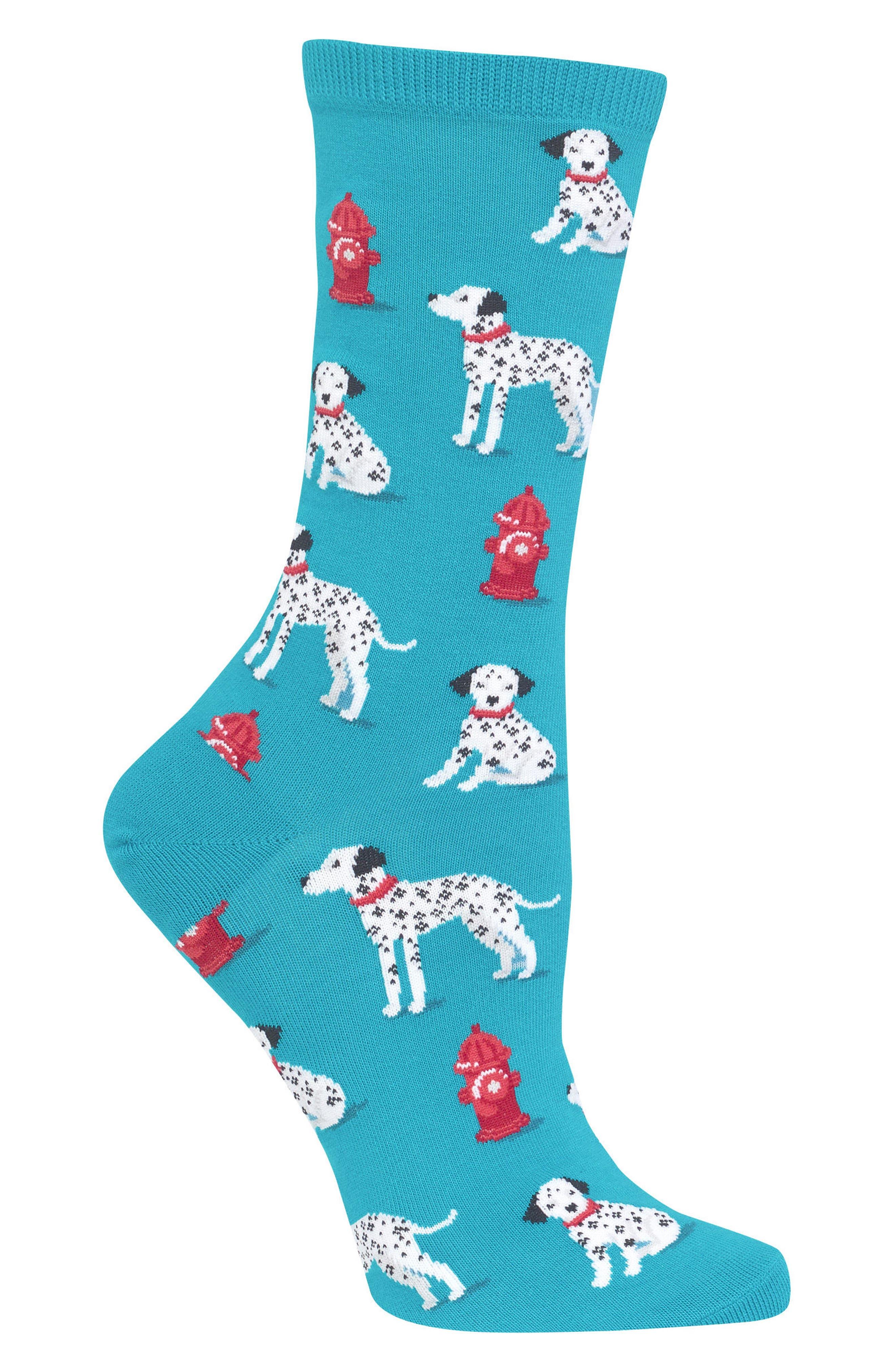 Alternate Image 3  - Hot Sox Dalmatian Crew Socks (3 for $15)