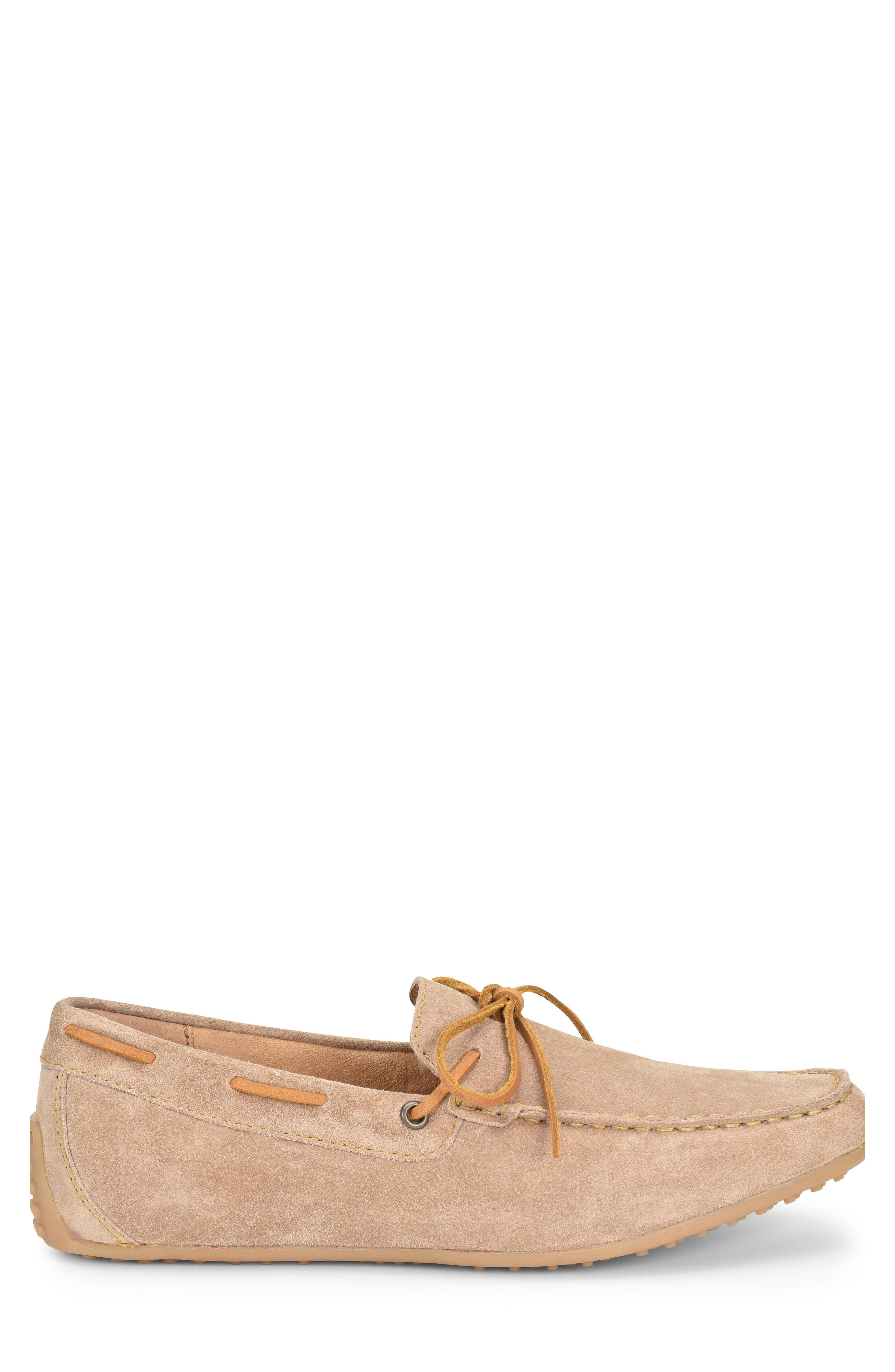 Virgo Driving Shoe,                             Alternate thumbnail 3, color,                             Taupe Suede