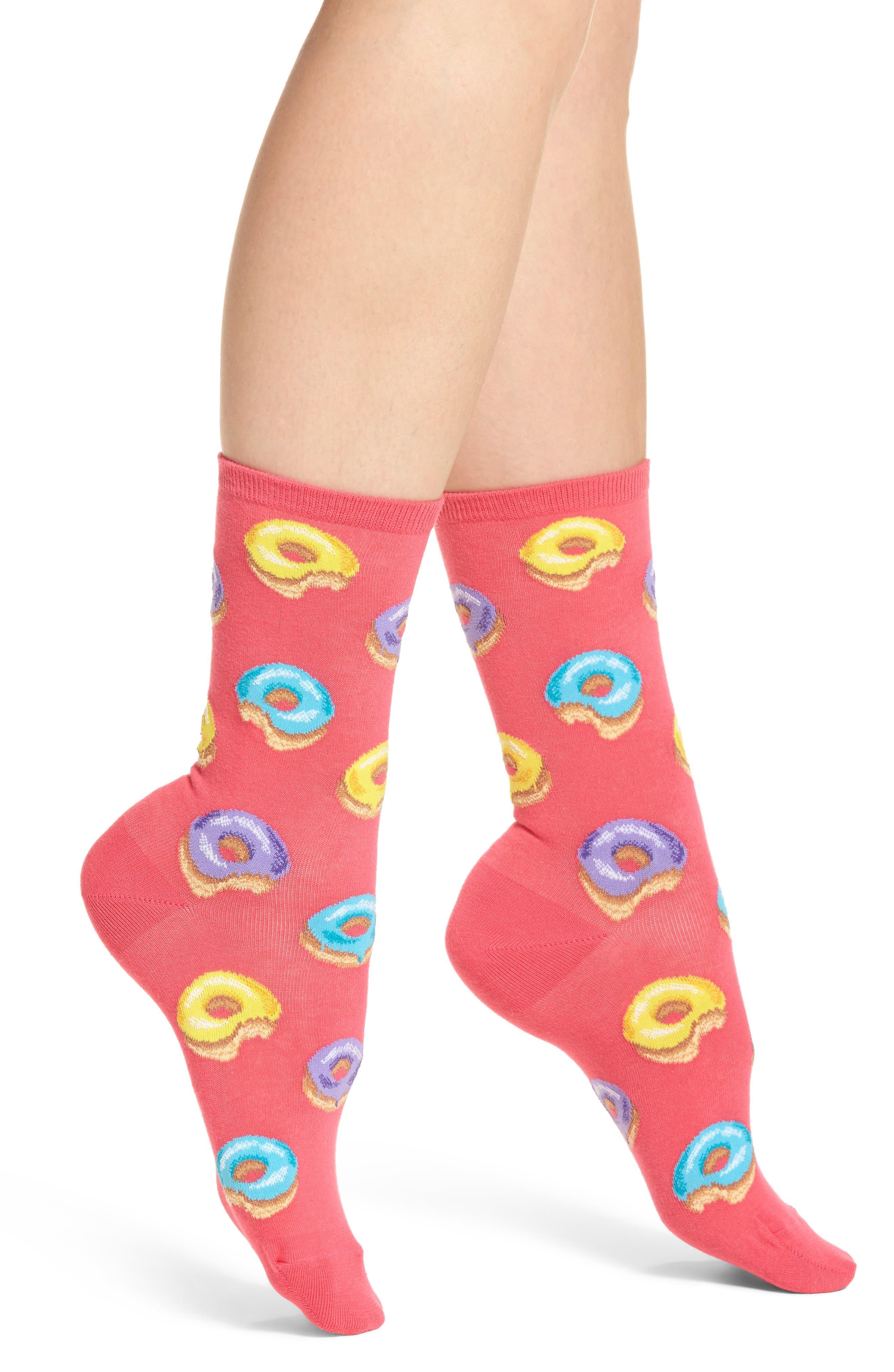 Hot Sox Donuts Crew Socks (3 for $15)