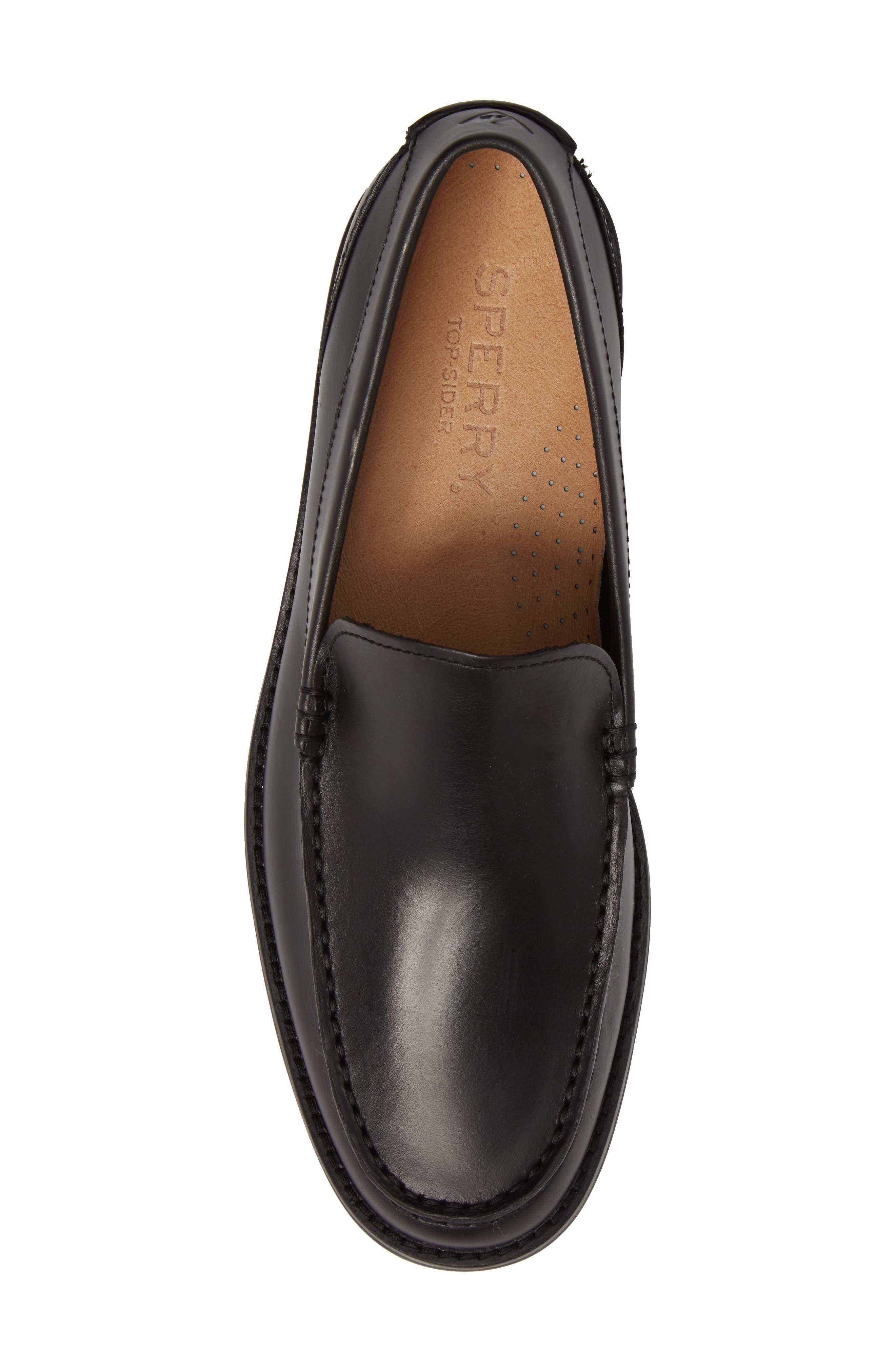 Essex Venetian Loafer,                             Alternate thumbnail 5, color,                             Black Leather