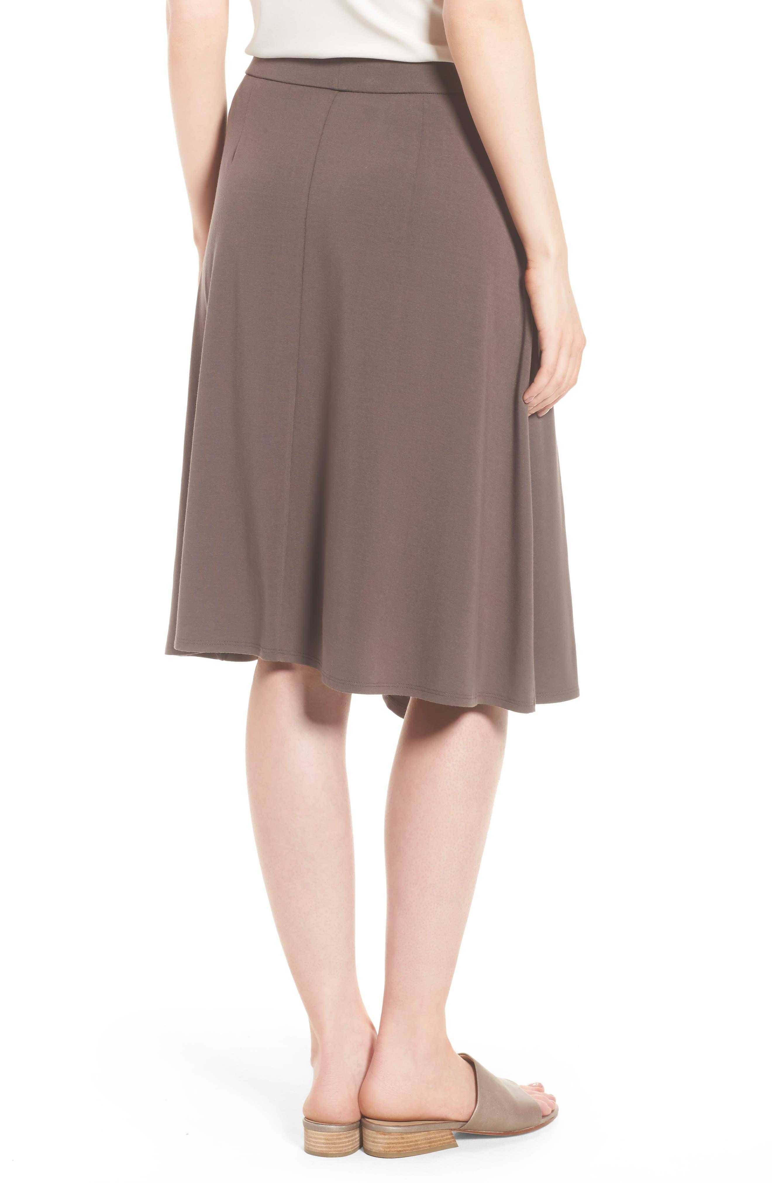 Faux Wrap Jersey Skirt,                             Alternate thumbnail 2, color,                             Rye