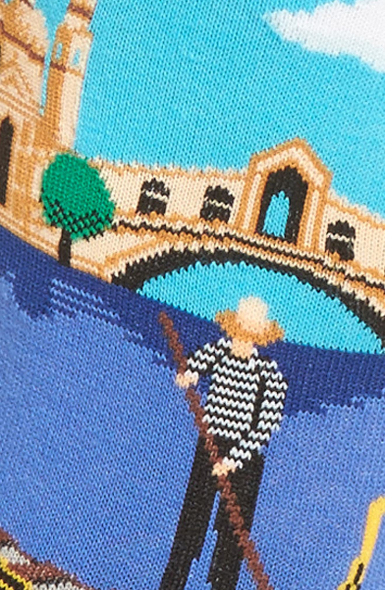 Travel Series - Venice Crew Socks,                             Alternate thumbnail 2, color,                             Light Blue