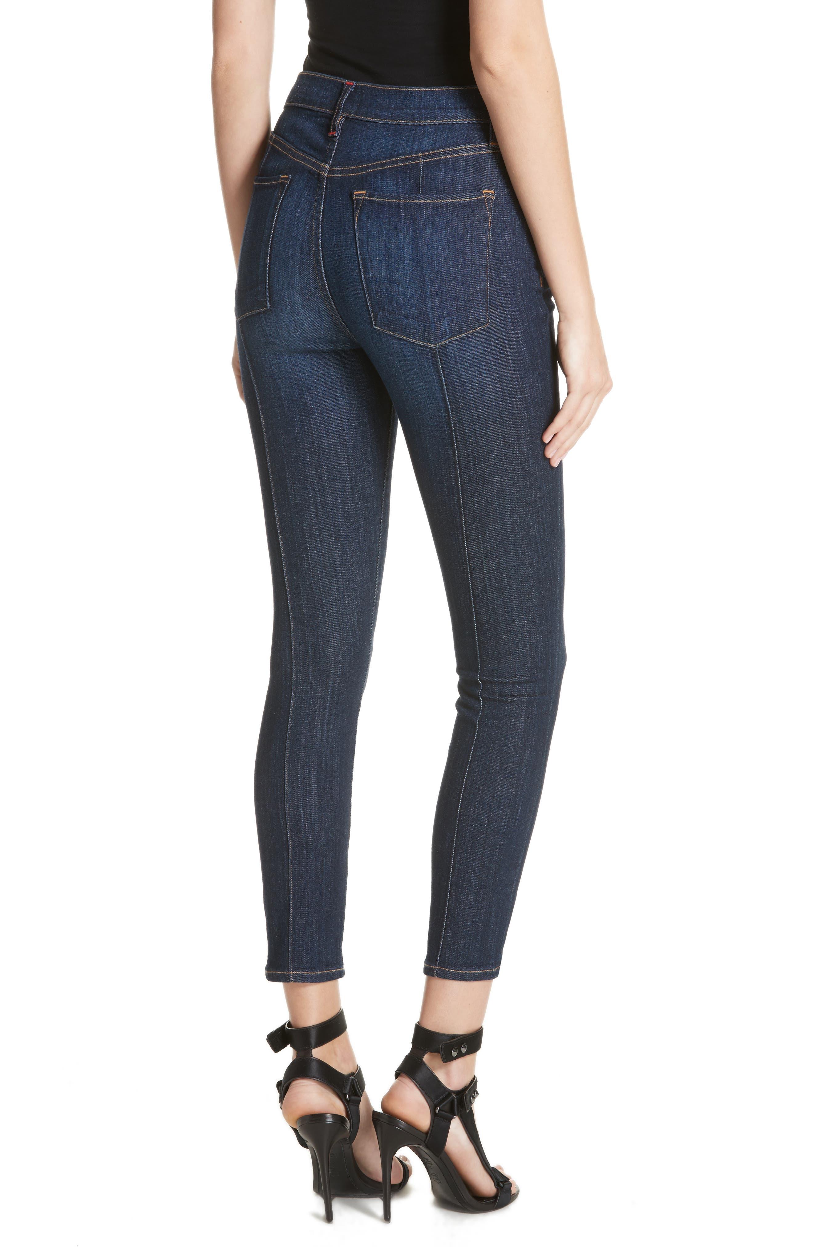 AO.LA Good High Waist Pintuck Skinny Jeans,                             Alternate thumbnail 2, color,                             Dream On