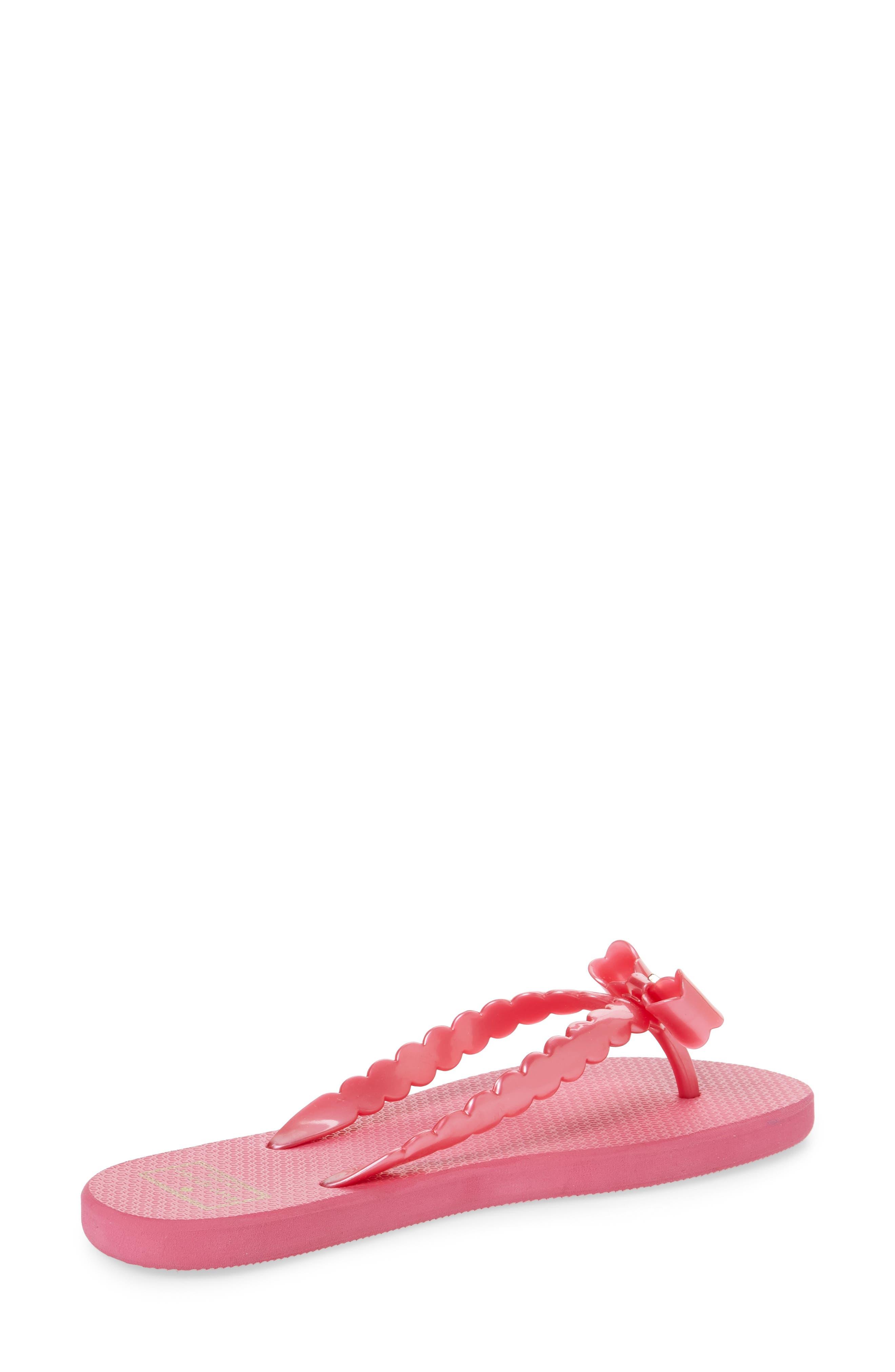 denise flip flop,                             Alternate thumbnail 2, color,                             Deep Pink