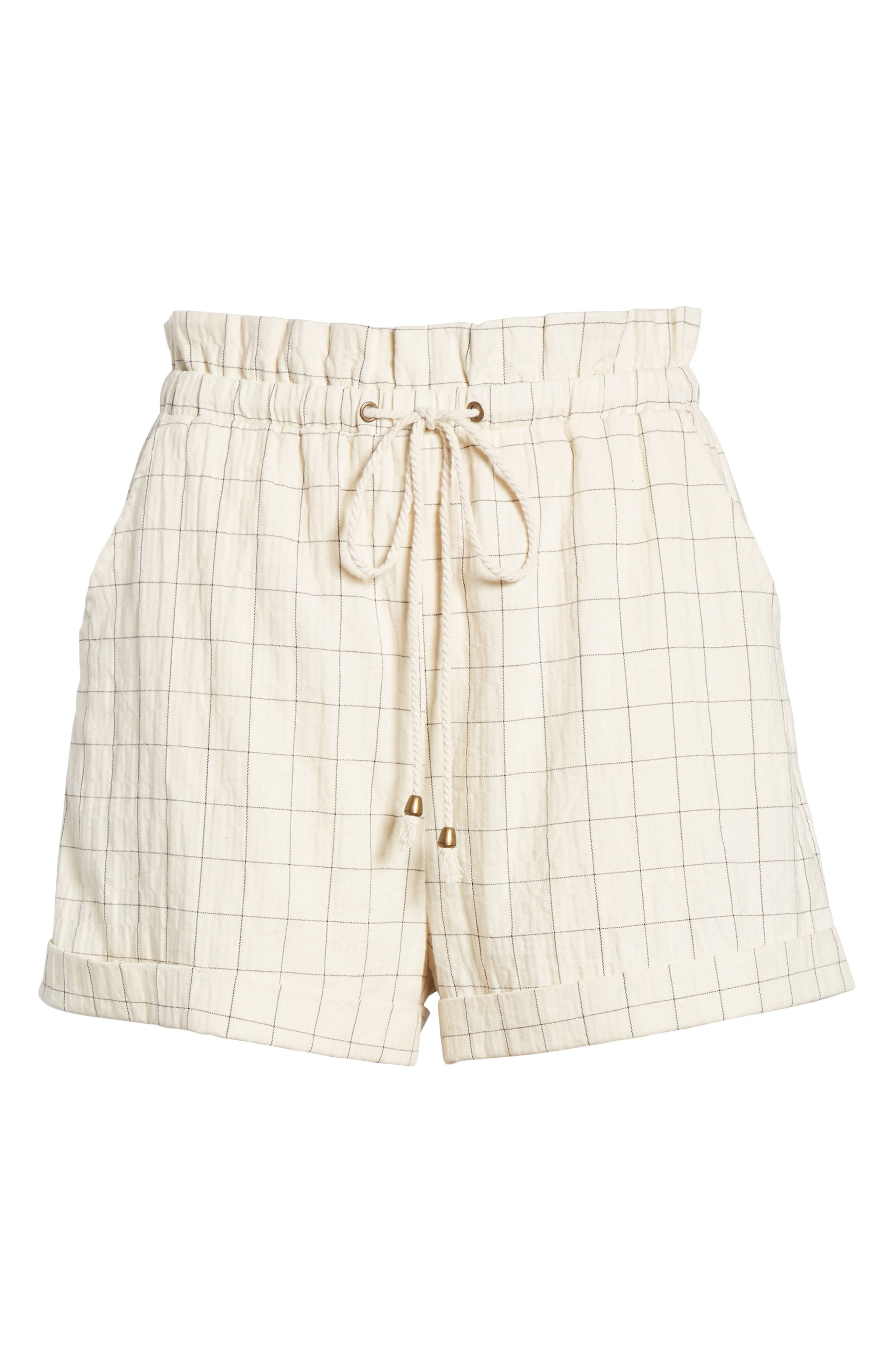 Drawstring Woven Shorts,                             Alternate thumbnail 6, color,                             Beige