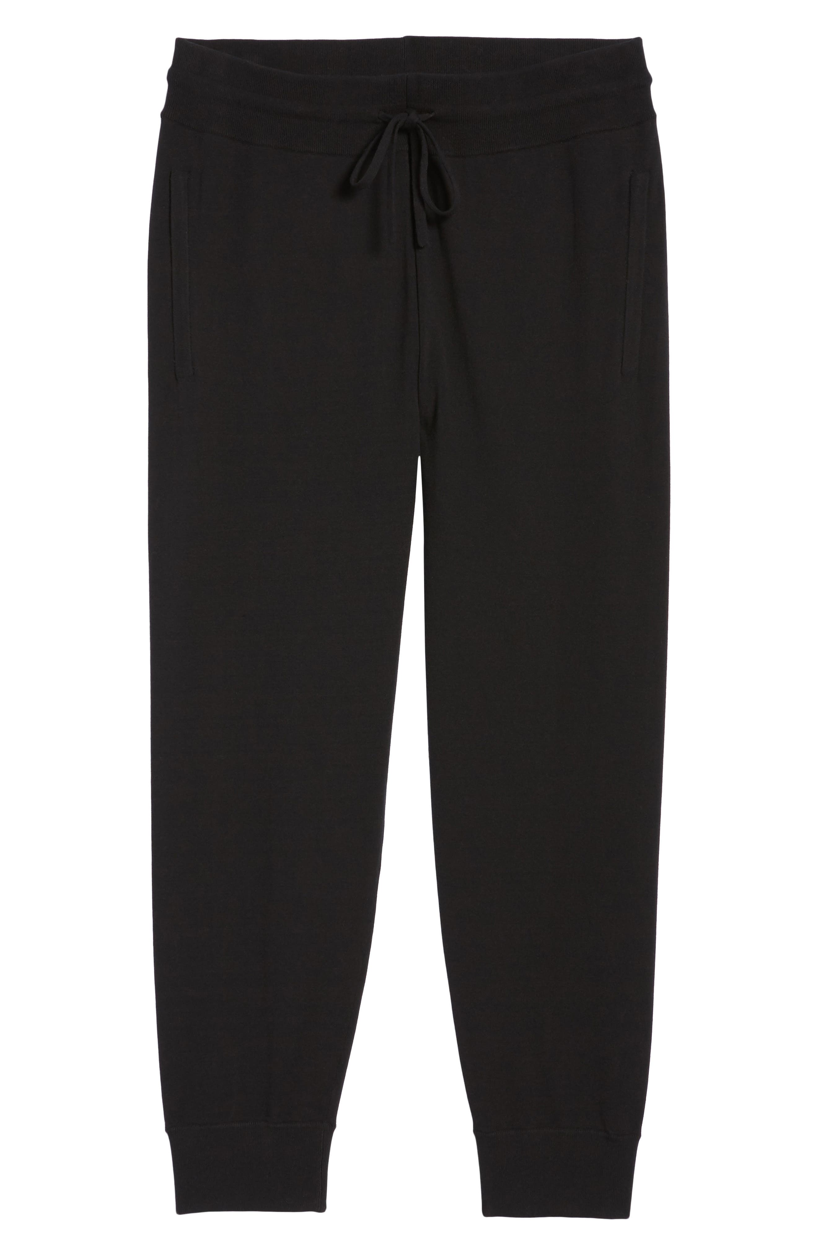 Slim Fit Jogger Pants,                             Alternate thumbnail 6, color,                             Black