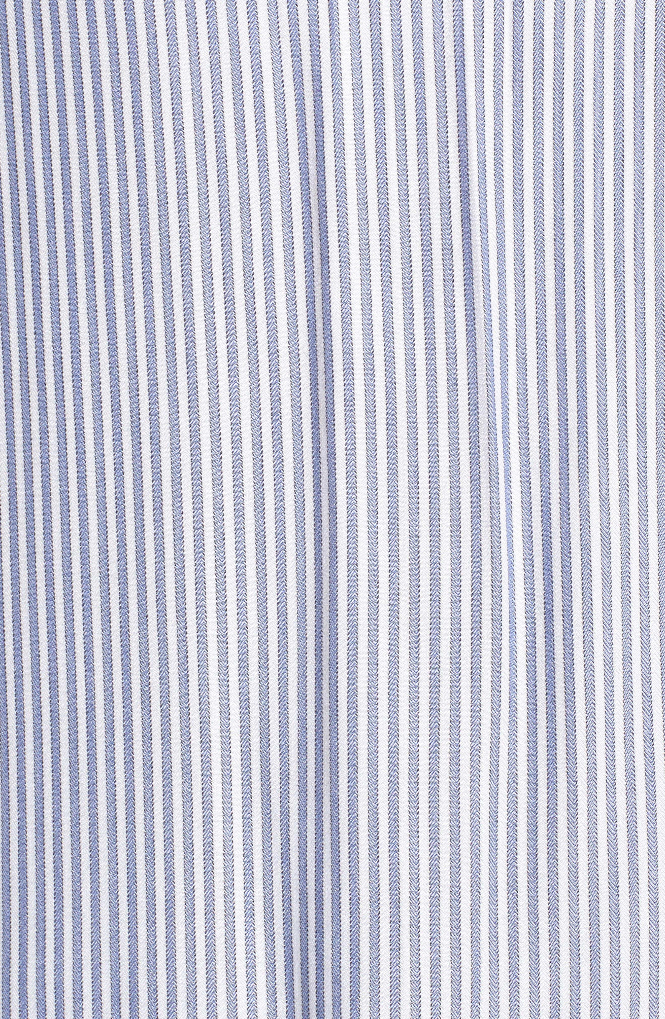 Stripe Ruffle Shirt,                             Alternate thumbnail 5, color,                             White Double Oxford Stripe