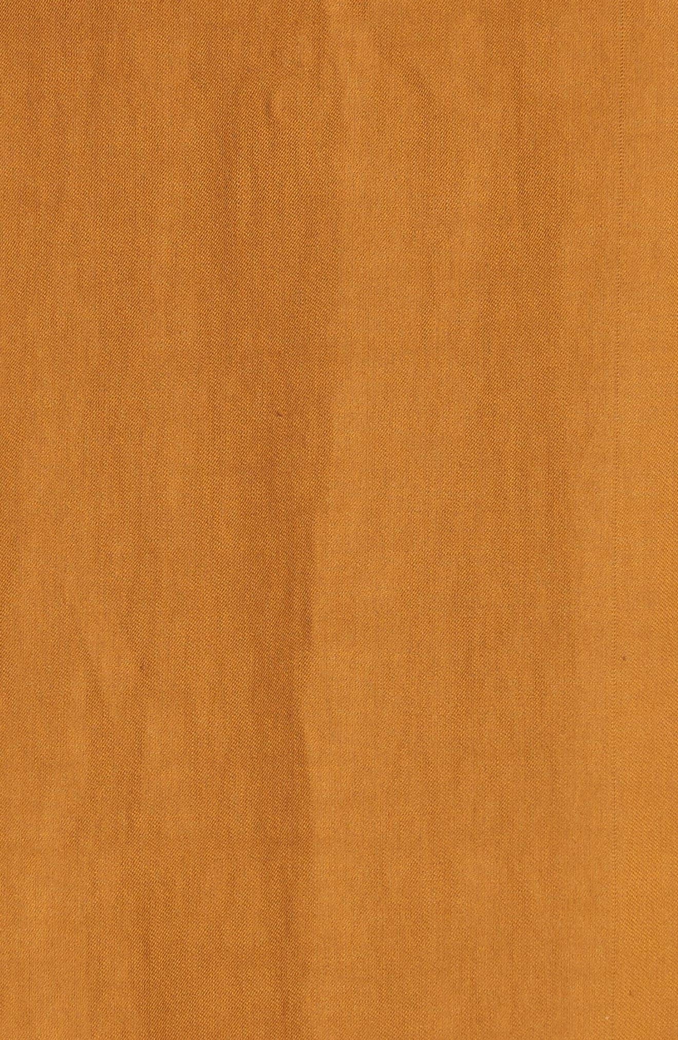 Hudson Cold Shoulder Dress,                             Alternate thumbnail 6, color,                             Gold