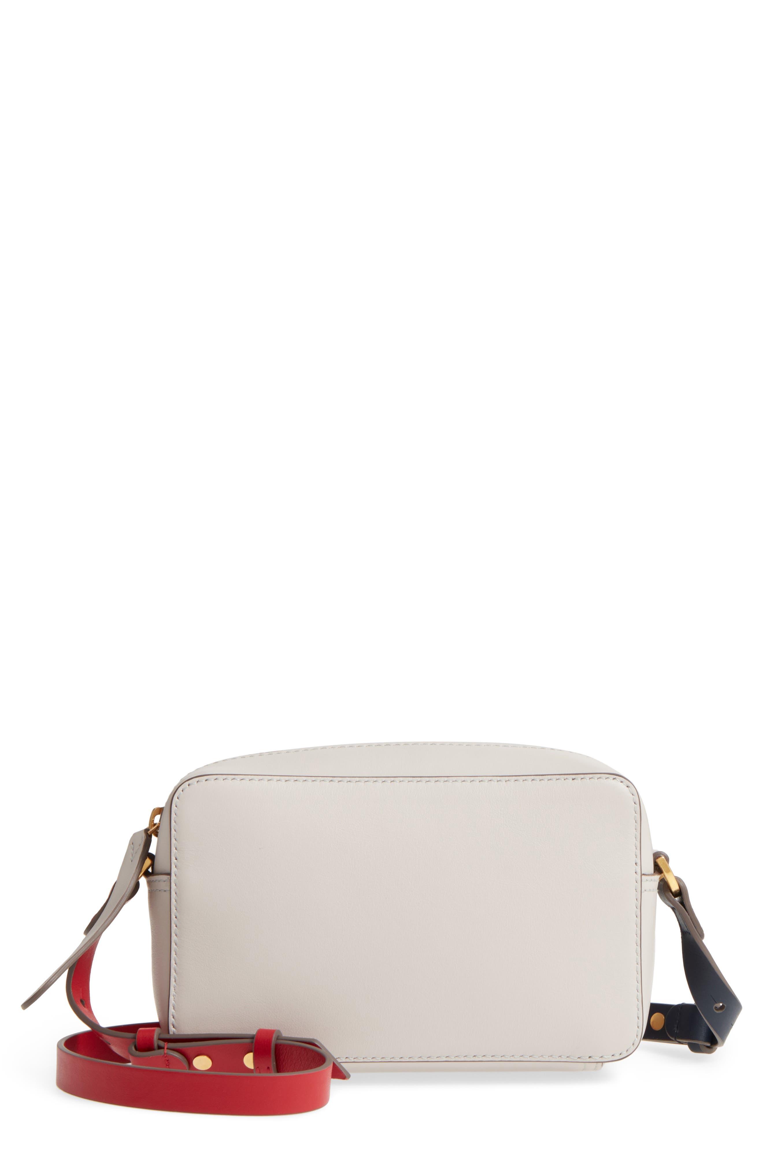 Mini Circles Leather Crossbody Bag,                             Main thumbnail 1, color,                             Steam