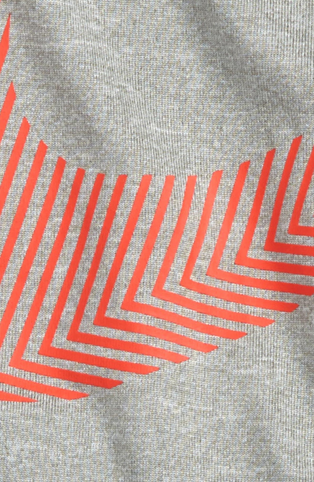 Wrap Around Swoosh Dry Shirt & Shorts Set,                             Alternate thumbnail 2, color,                             Dark Grey Heather