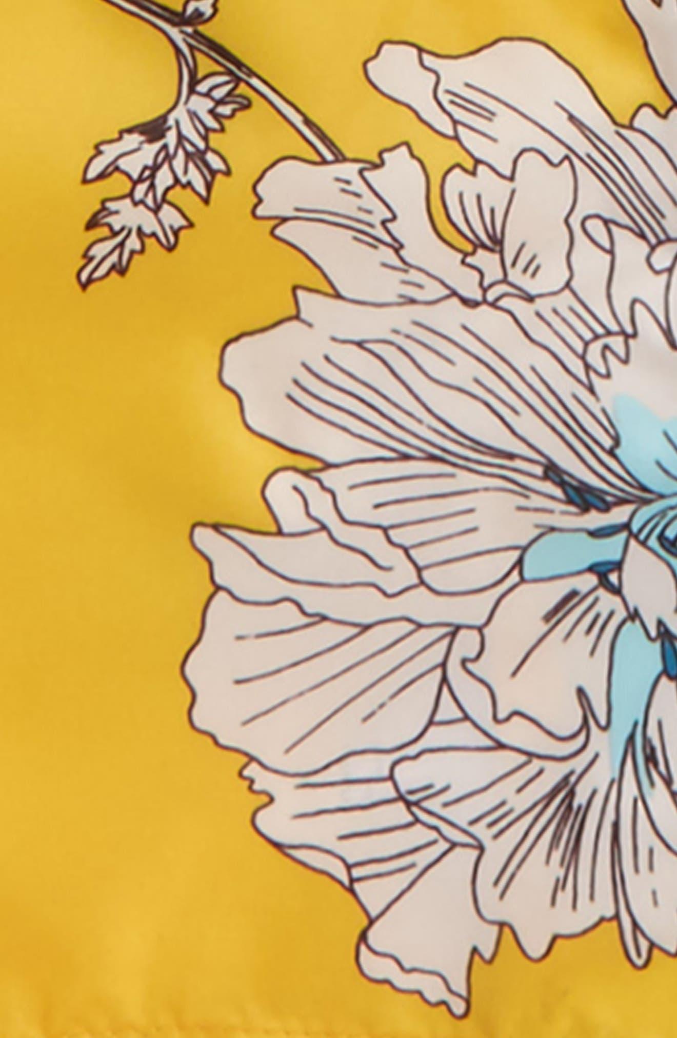 Packaway Flower Print Rain Jacket,                             Alternate thumbnail 2, color,                             Antique Gold Peony