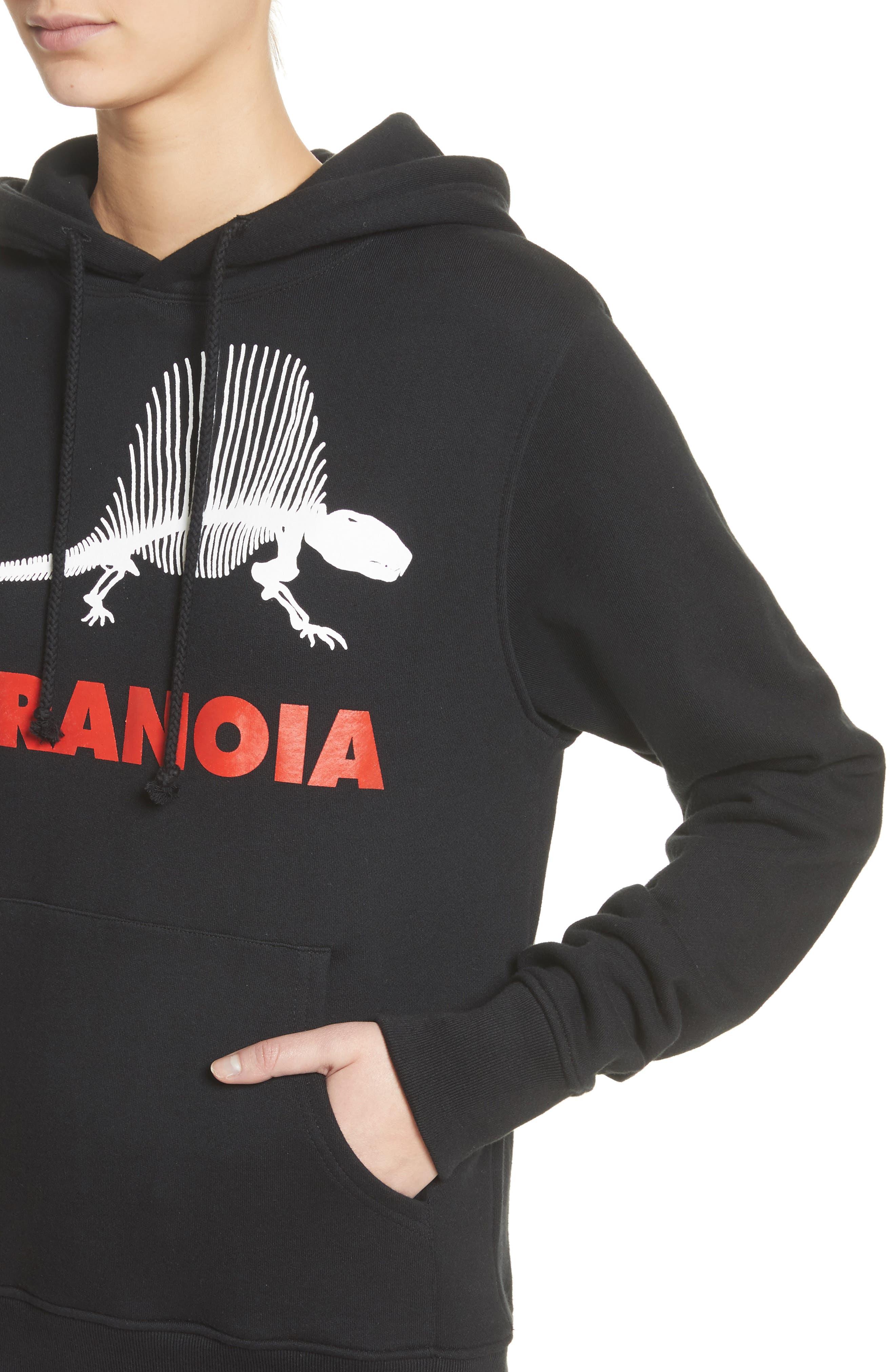 Paranoia Hoodie,                             Alternate thumbnail 4, color,                             Black