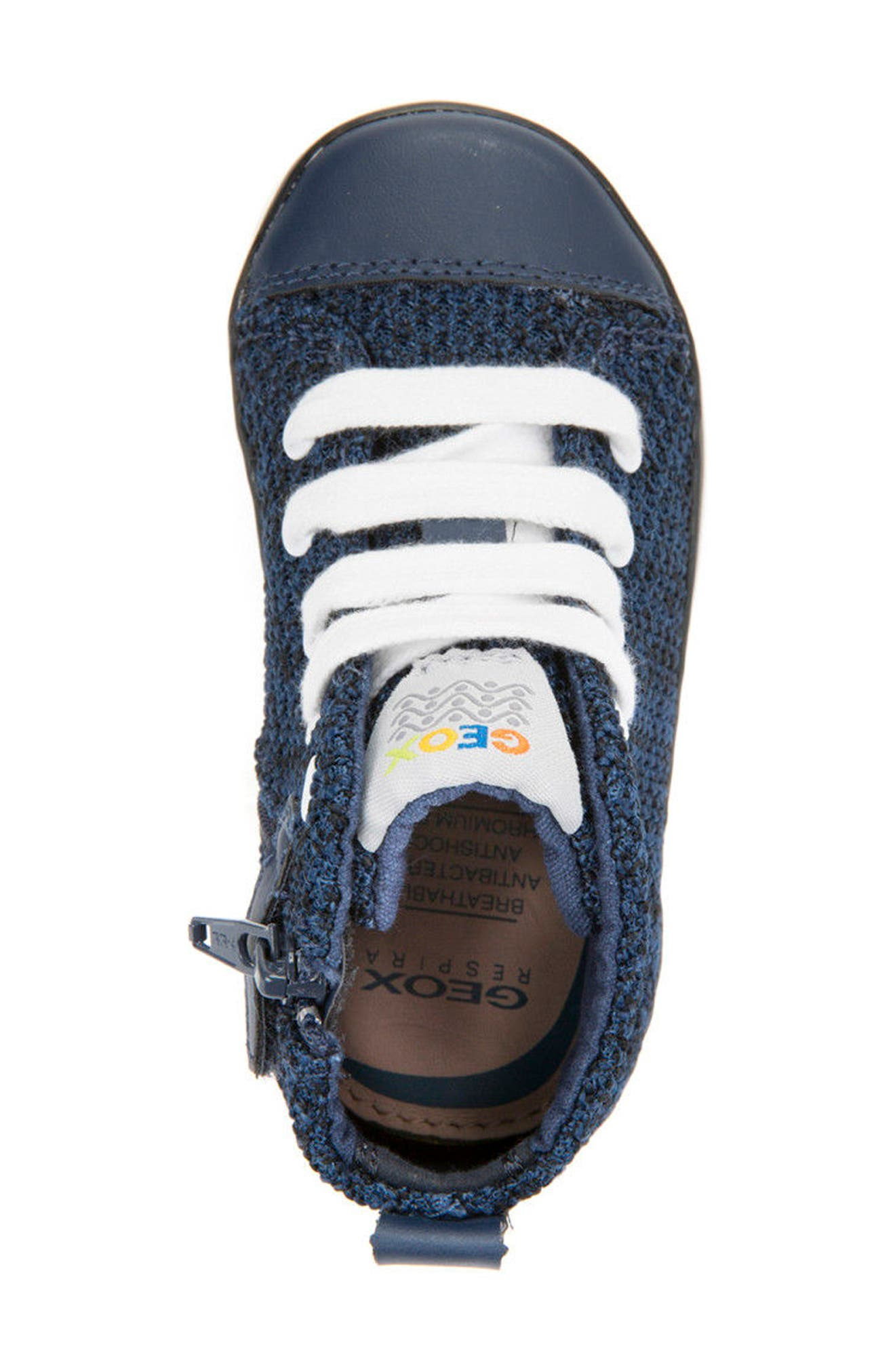 Kilwi Knit High Top Sneaker,                             Alternate thumbnail 5, color,                             Navy