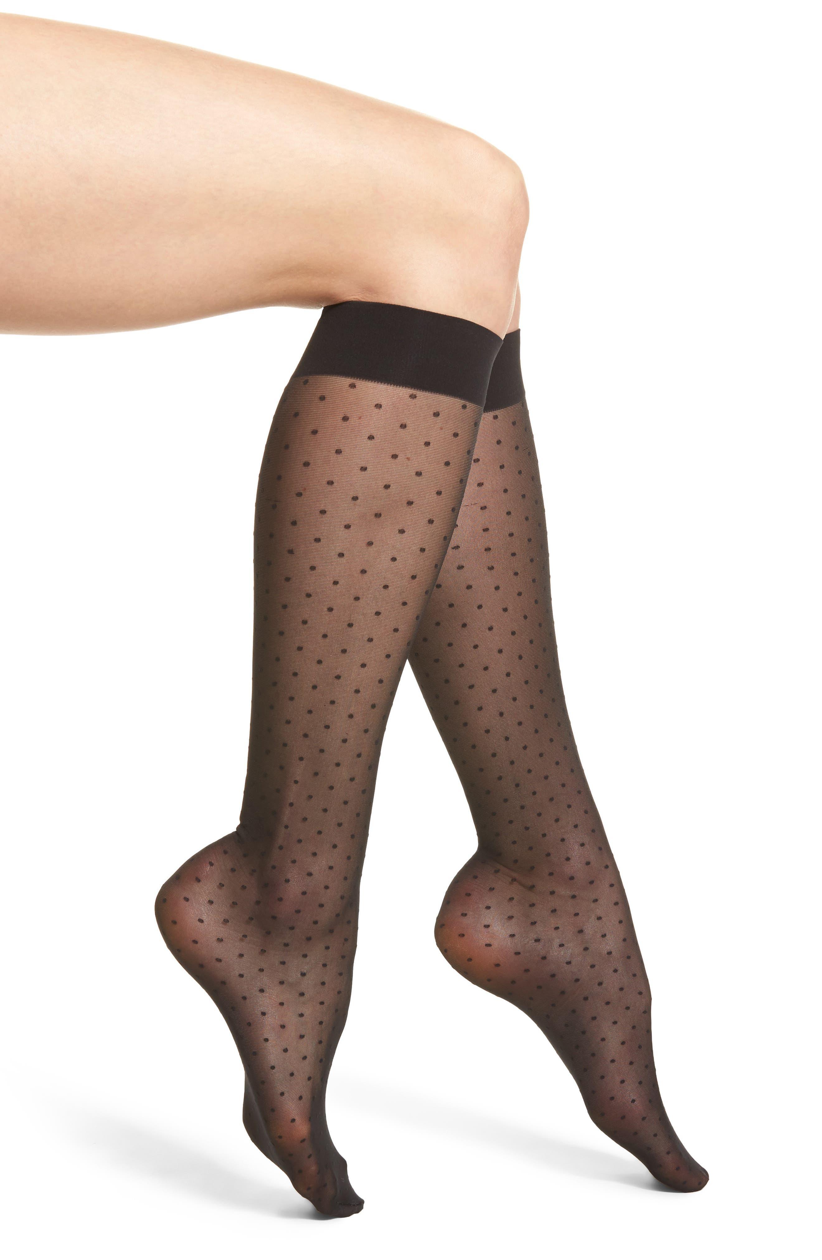 Sarah Jessica Trouser Socks,                         Main,                         color, Black