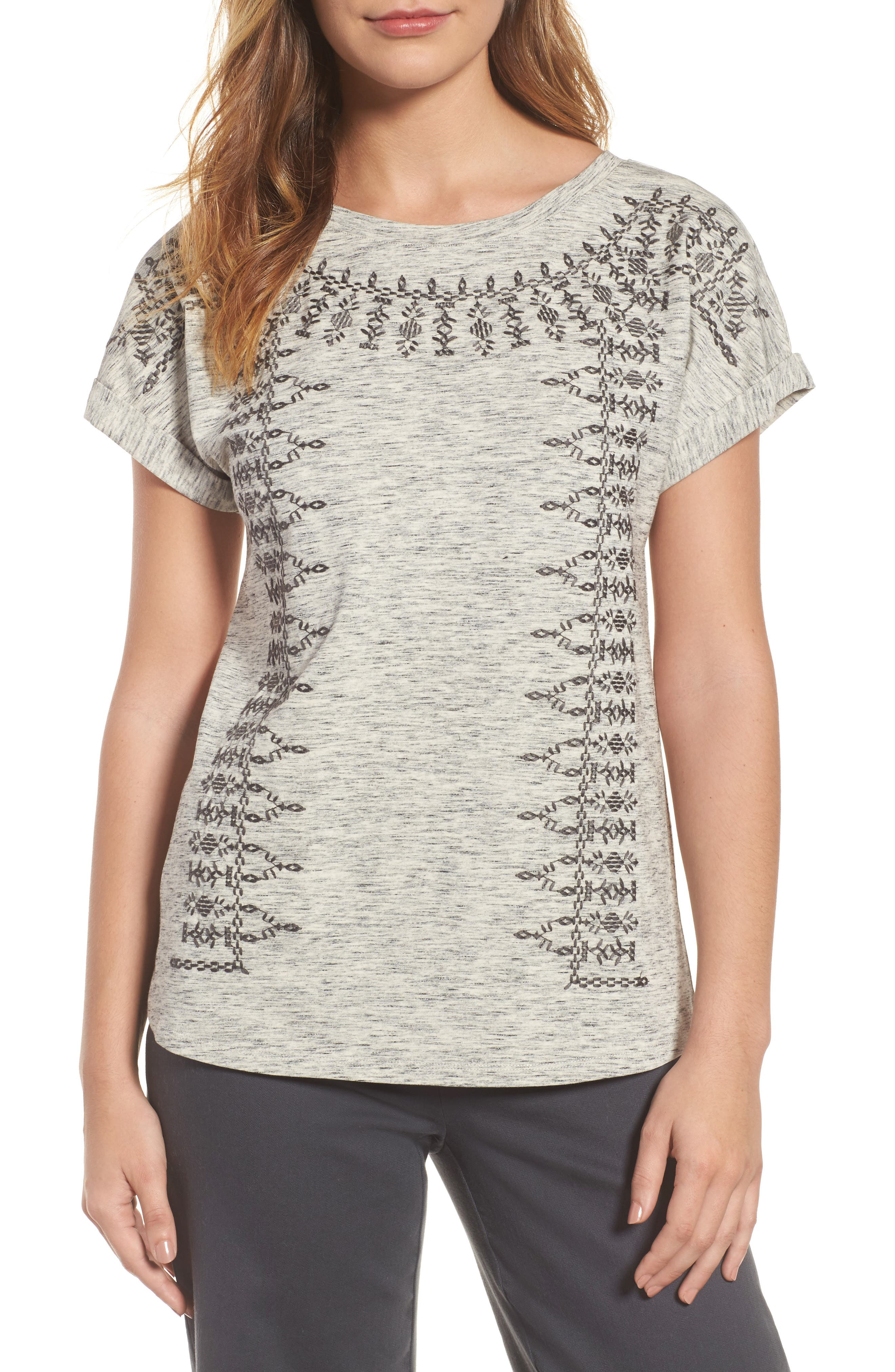 Alternate Image 1 Selected - NIC+ZOE Henna Short Sleeve Top (Regular & Petite)