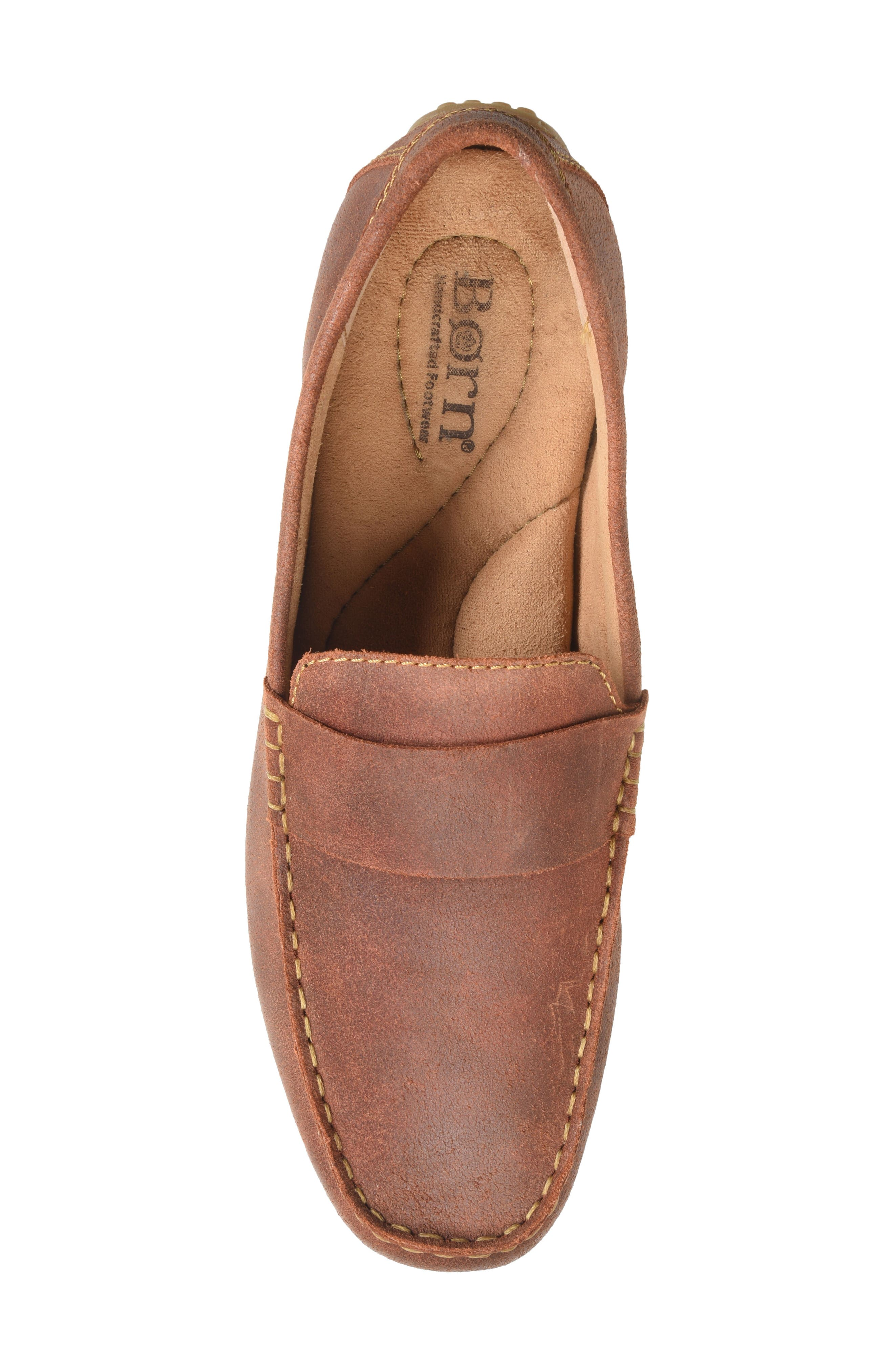Ratner Driving Loafer,                             Alternate thumbnail 4, color,                             Rust Leather