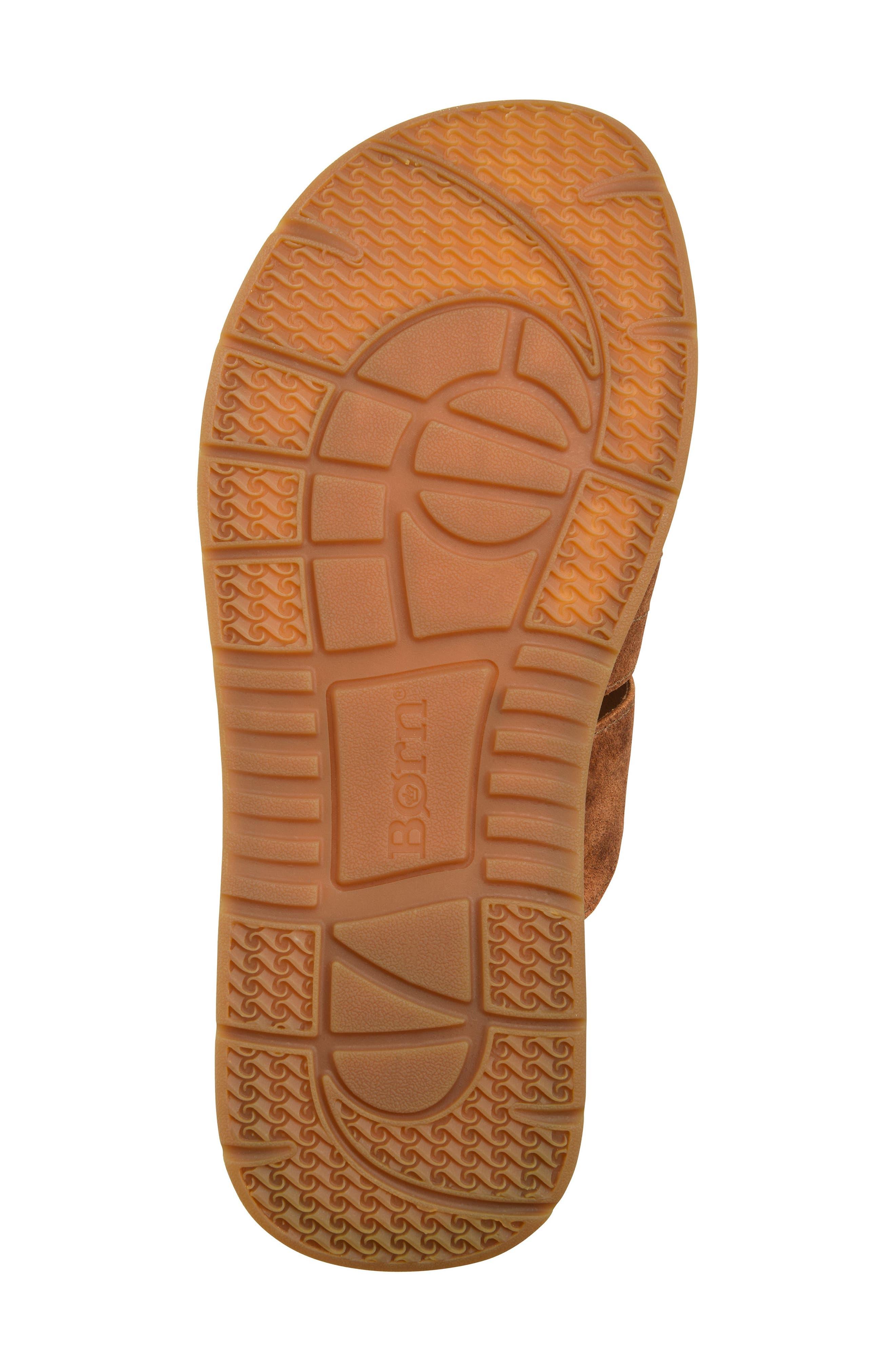 Sail Slide Sandal,                             Alternate thumbnail 6, color,                             Rust Leather