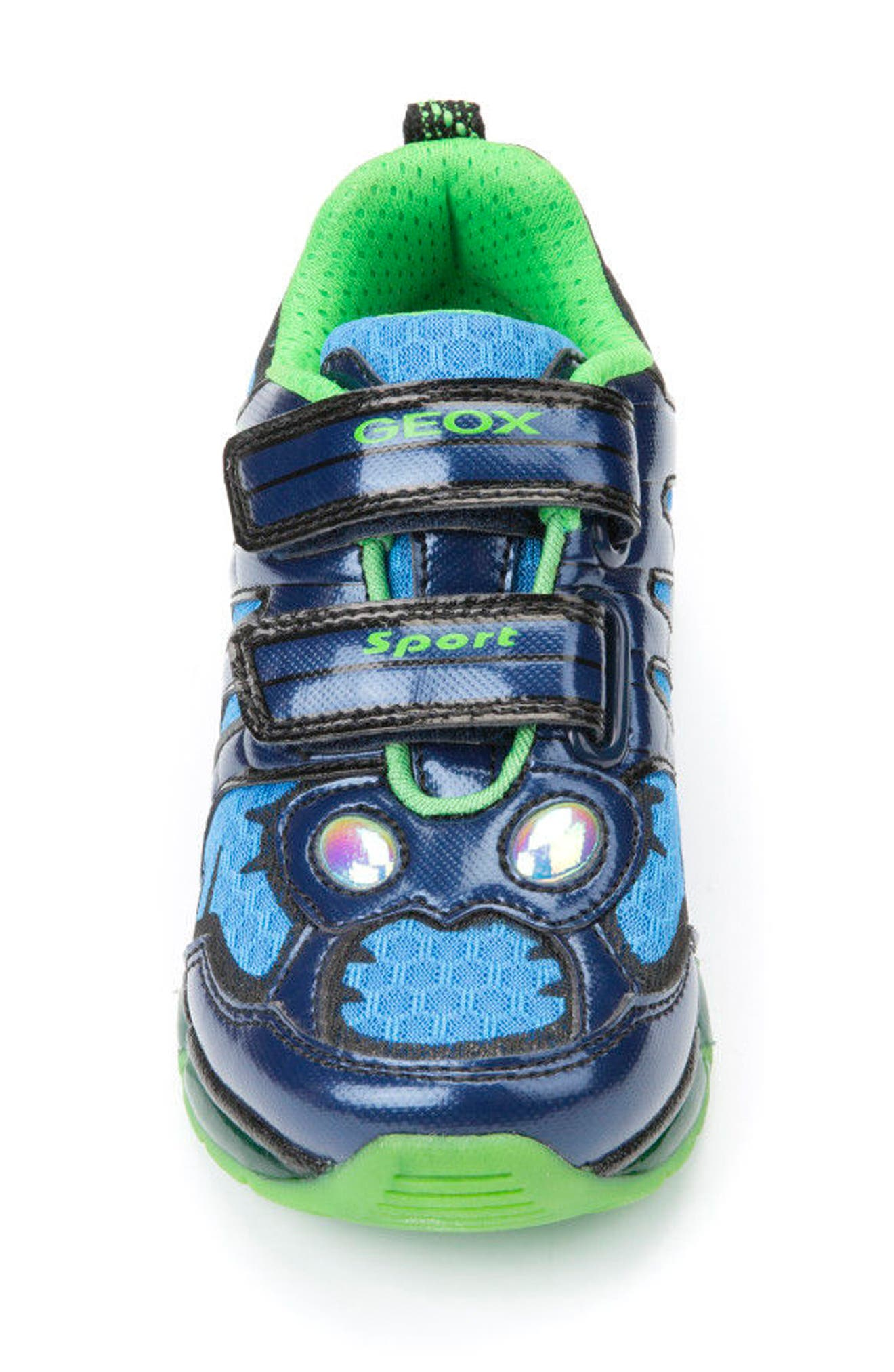 Android Light-Up Sneaker,                             Alternate thumbnail 4, color,                             Navy
